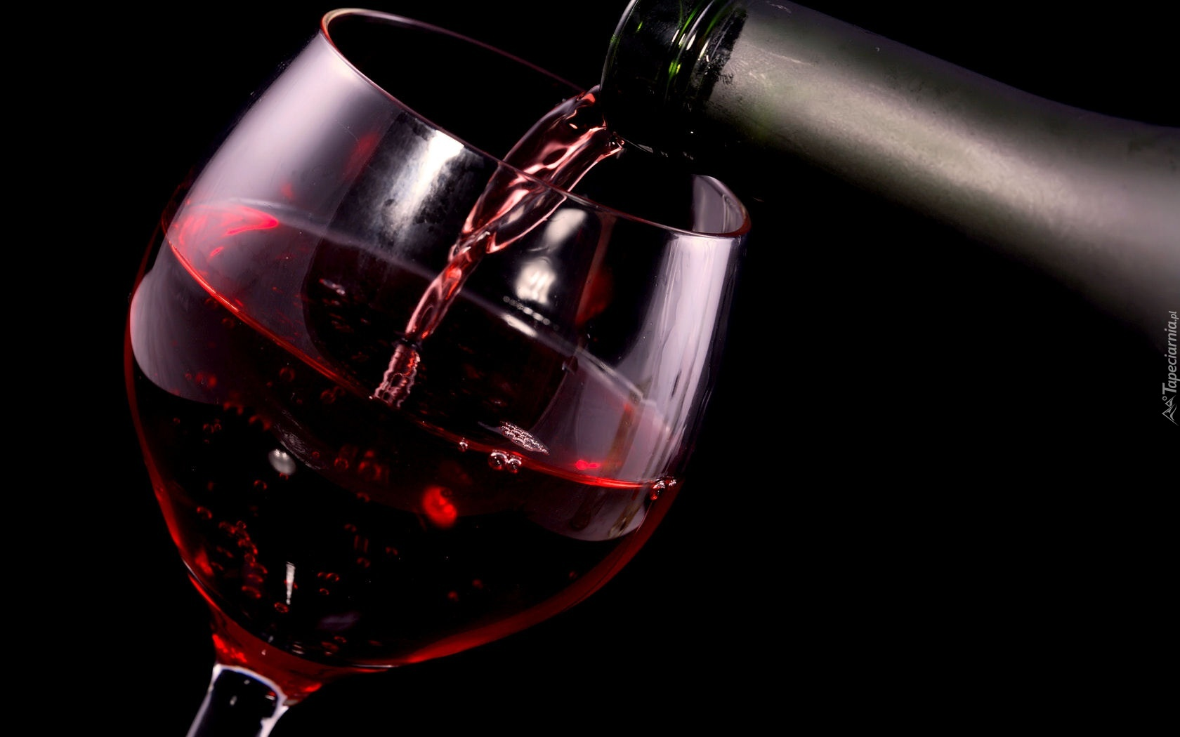 Czerwone Wino Kieliszek