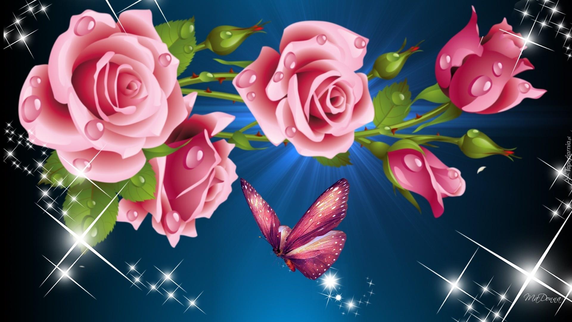 картинки на рабочий стол цветы гиф радиусных