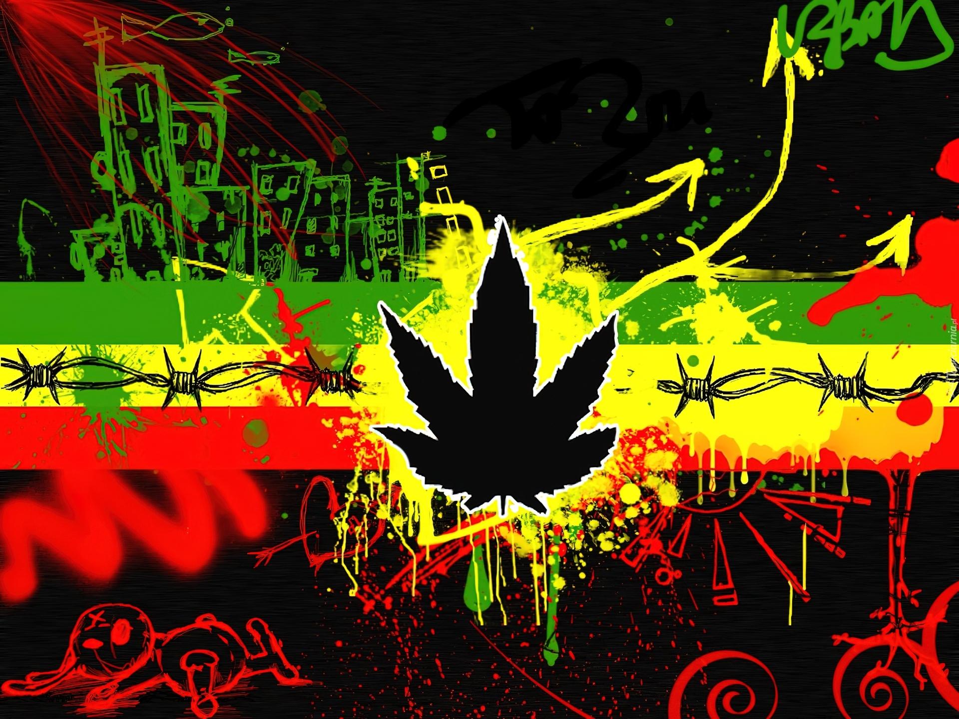 Rasta, Reggae, Grafitti