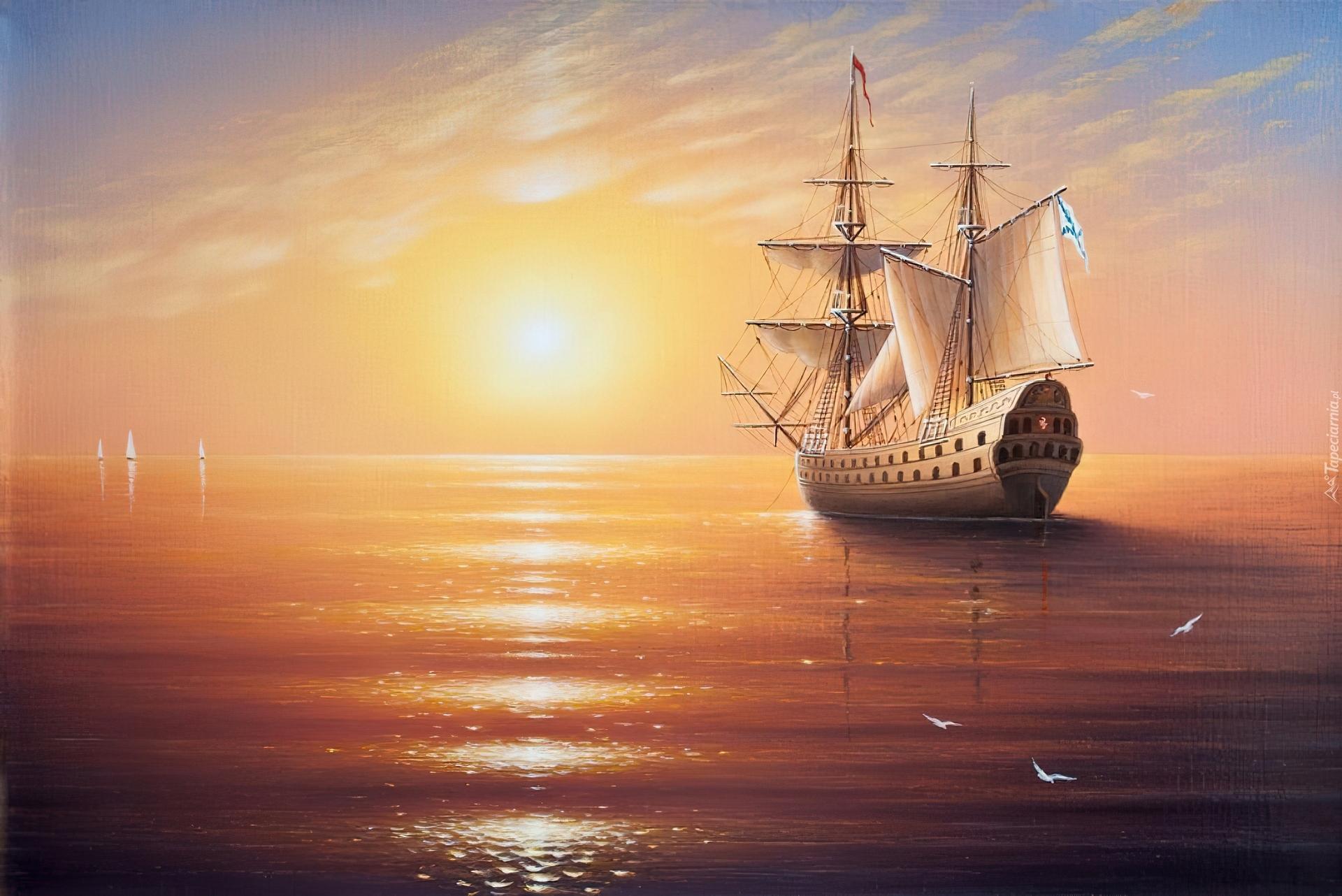количество картинка корабль уходит в море на закате впервые задумавшемуся том