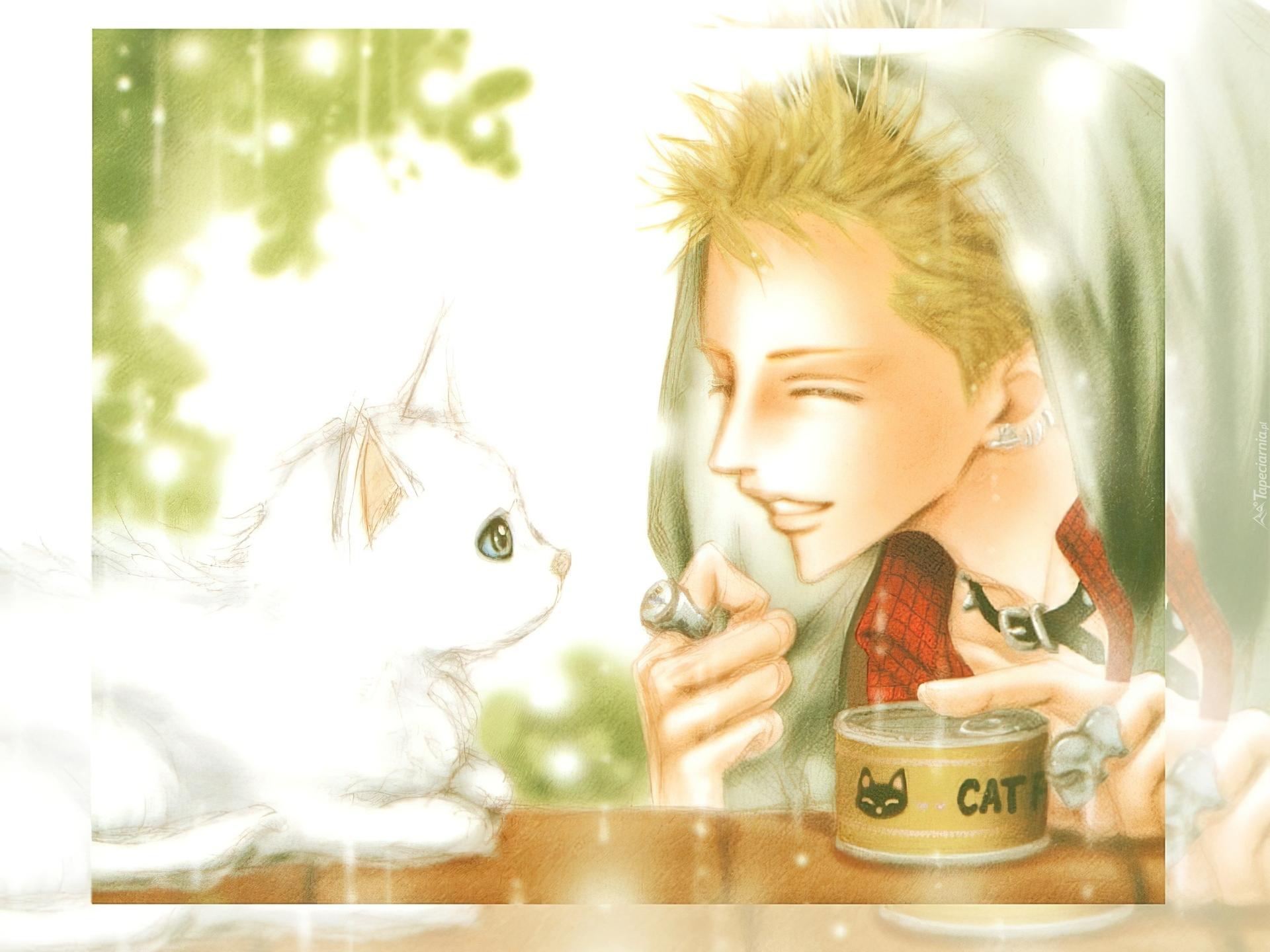 Nana Biały Kot Kobieta