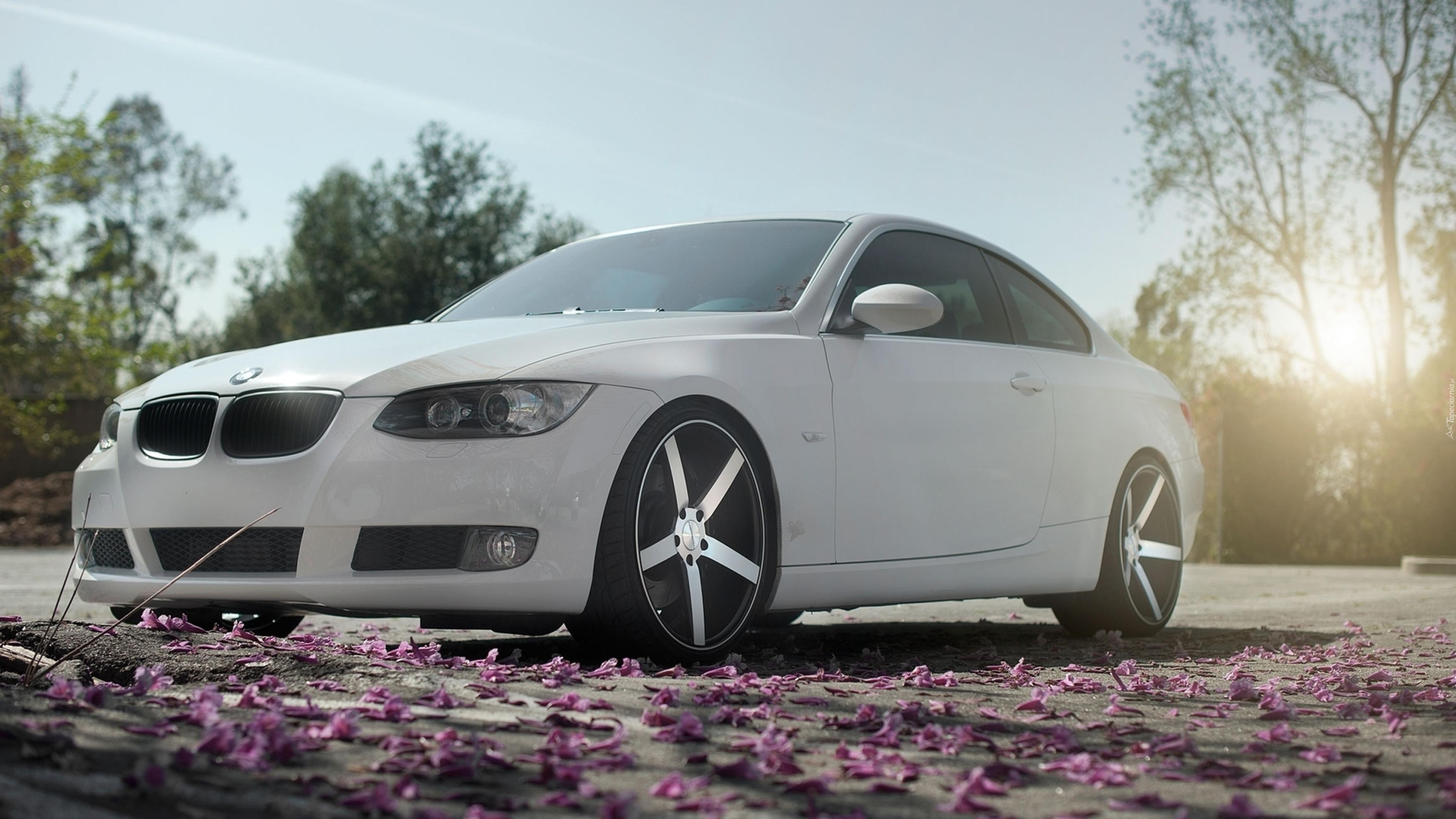 Białe Bmw 3 Coupe