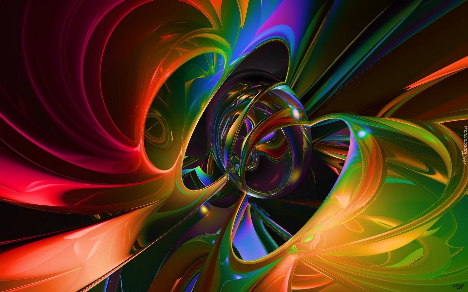 3d Jazz Music Wallpapers: Kolorowa, Abstrakcja