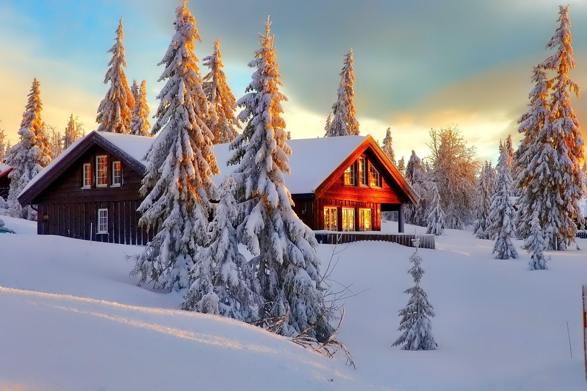 снег зима усадьба фазенда загрузить