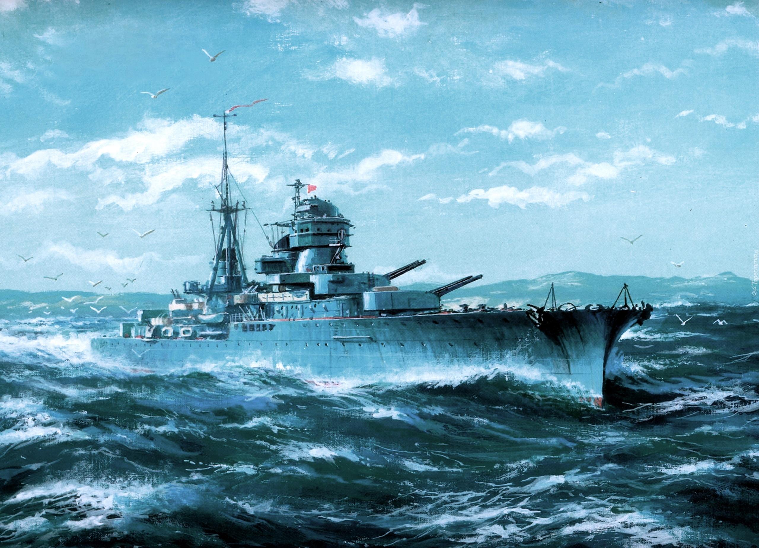 Картинки Линкор корабль на рабочий стол  Корабли
