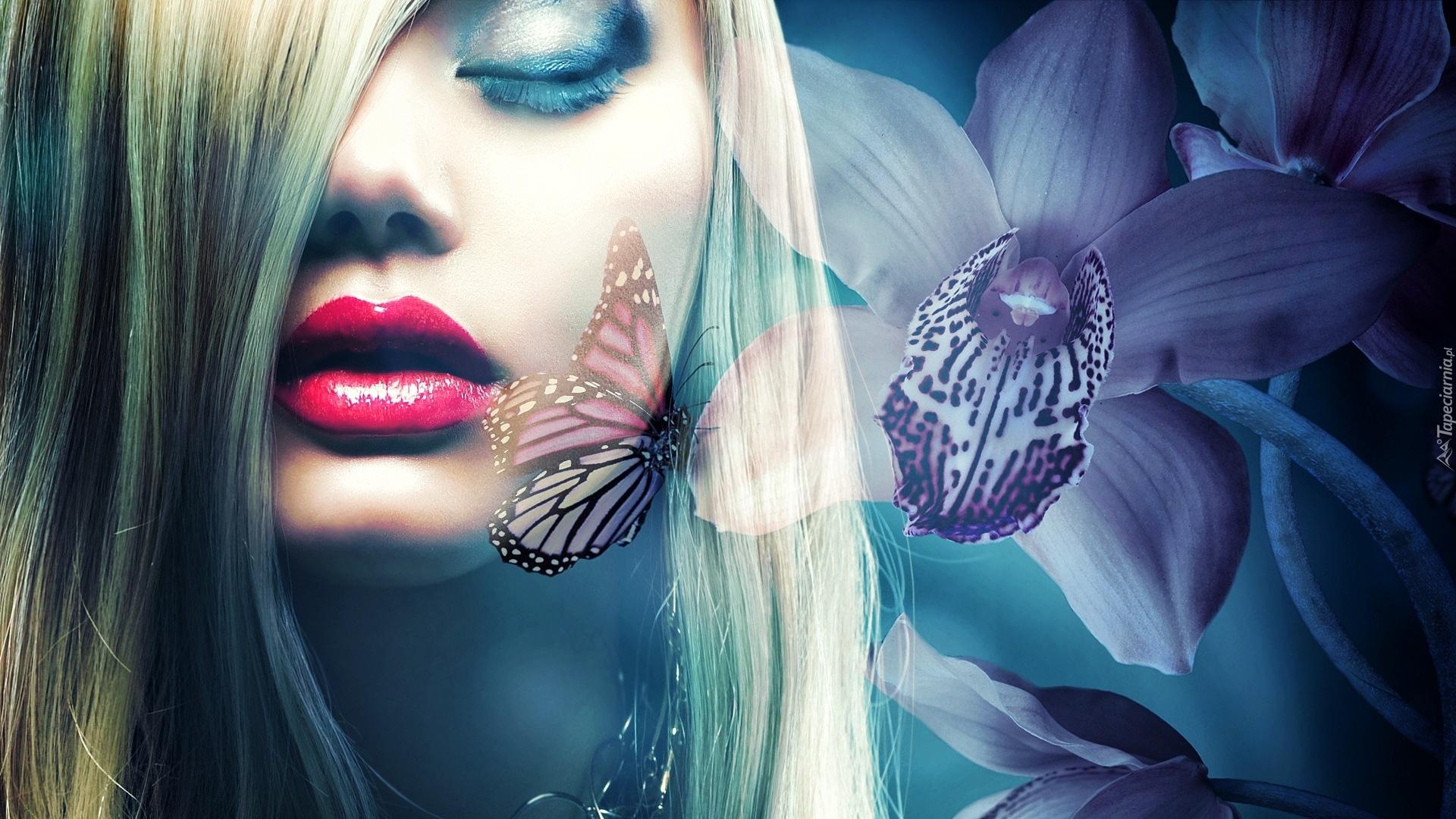 Девушка с бабочками загрузить