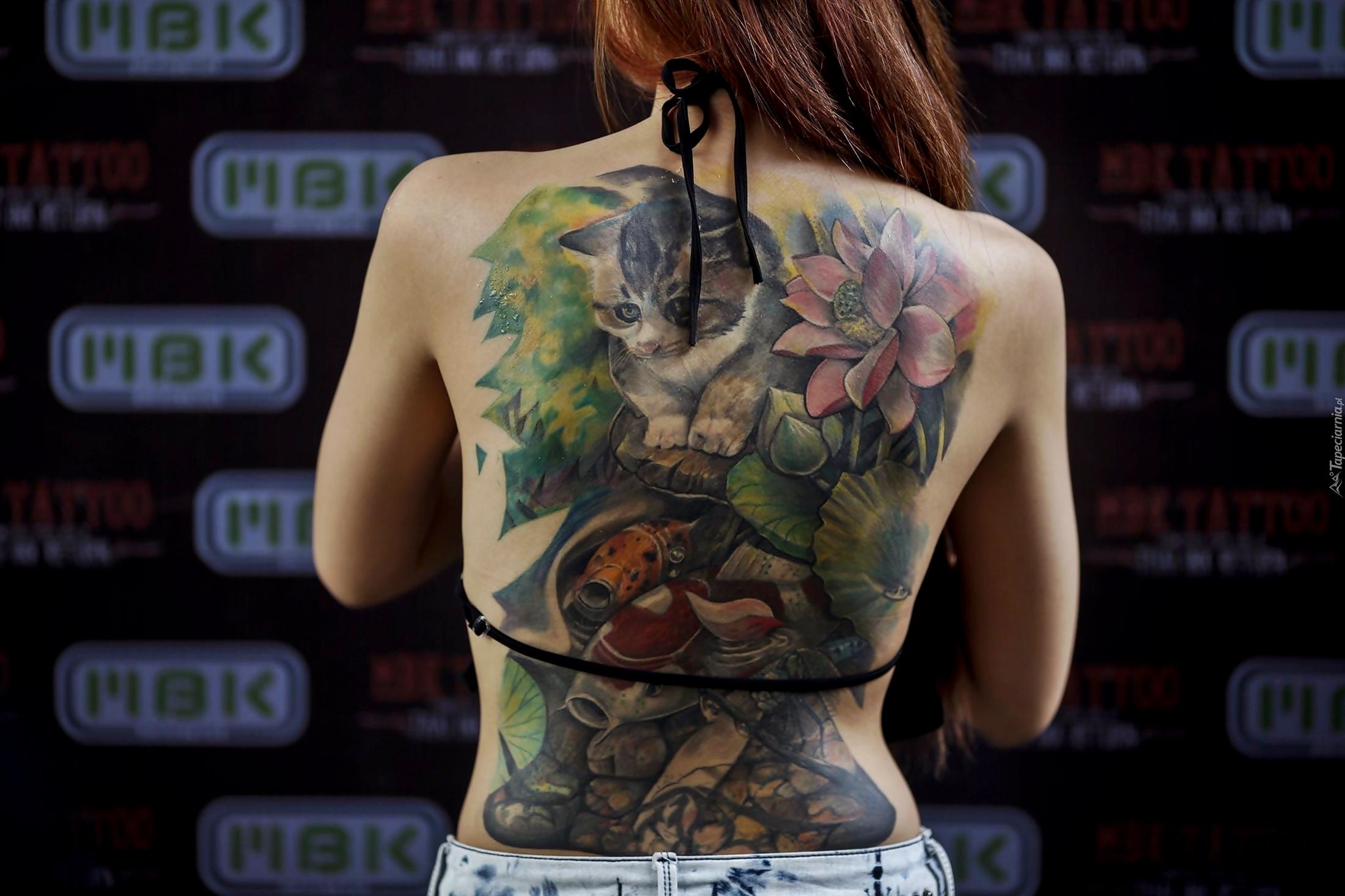 Tatuaż Plecy Dziewczyna