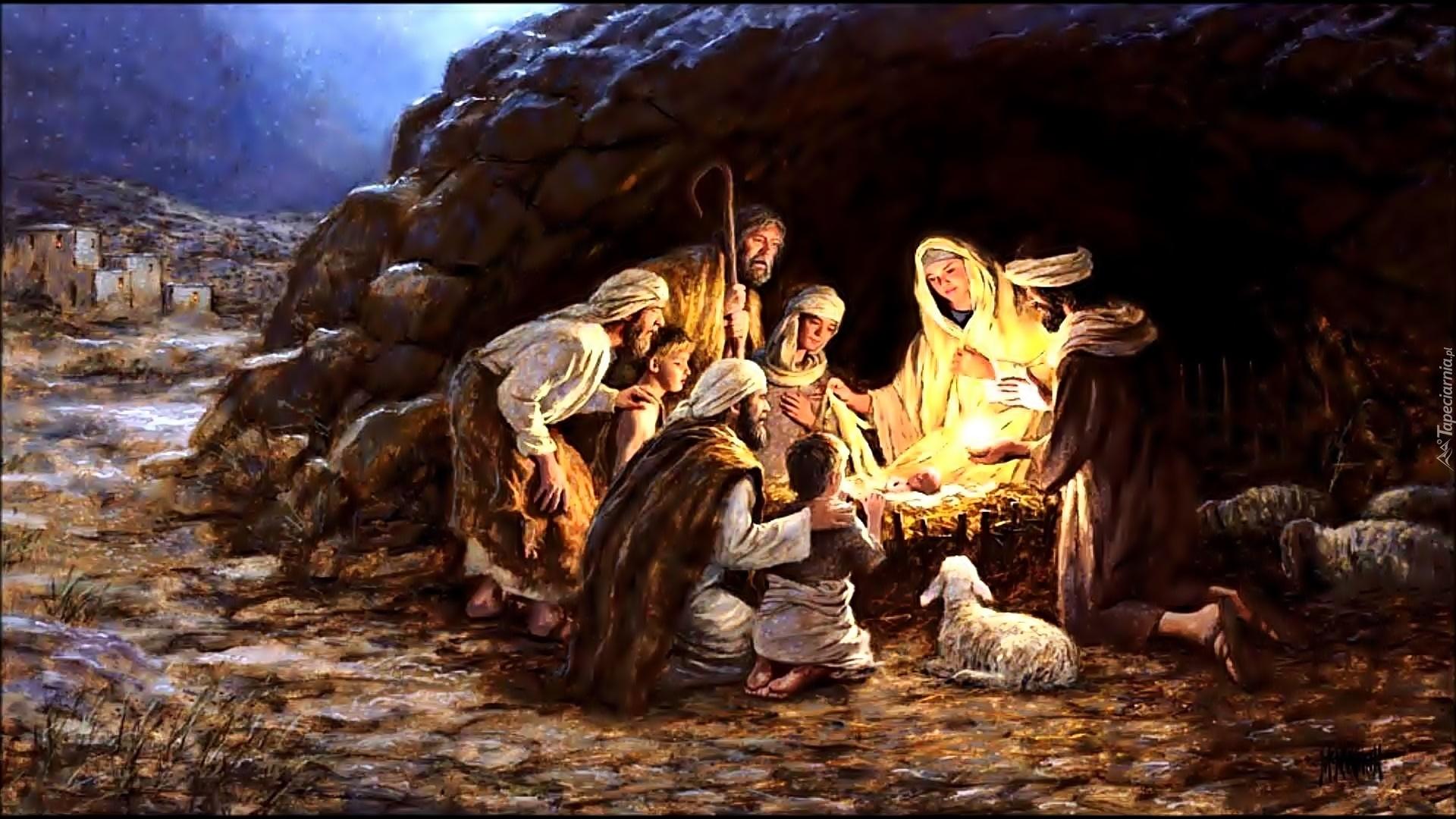 Znalezione obrazy dla zapytania pasterze przy żłóbku