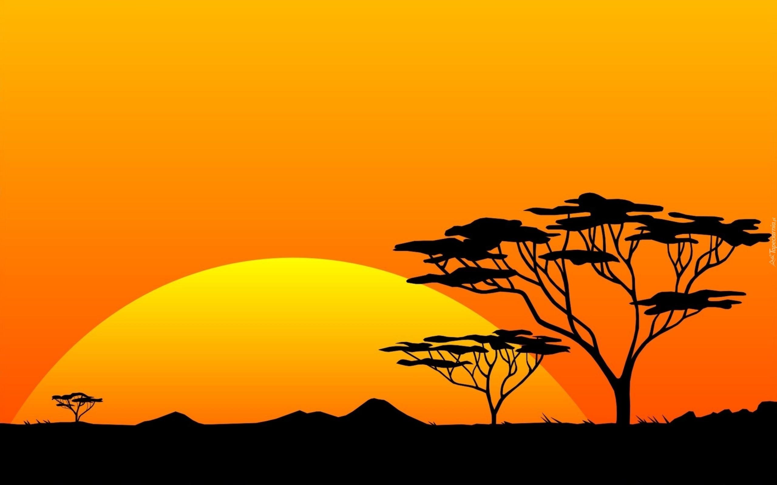 Zach d s o ca afryka - Dessin paysage africain ...