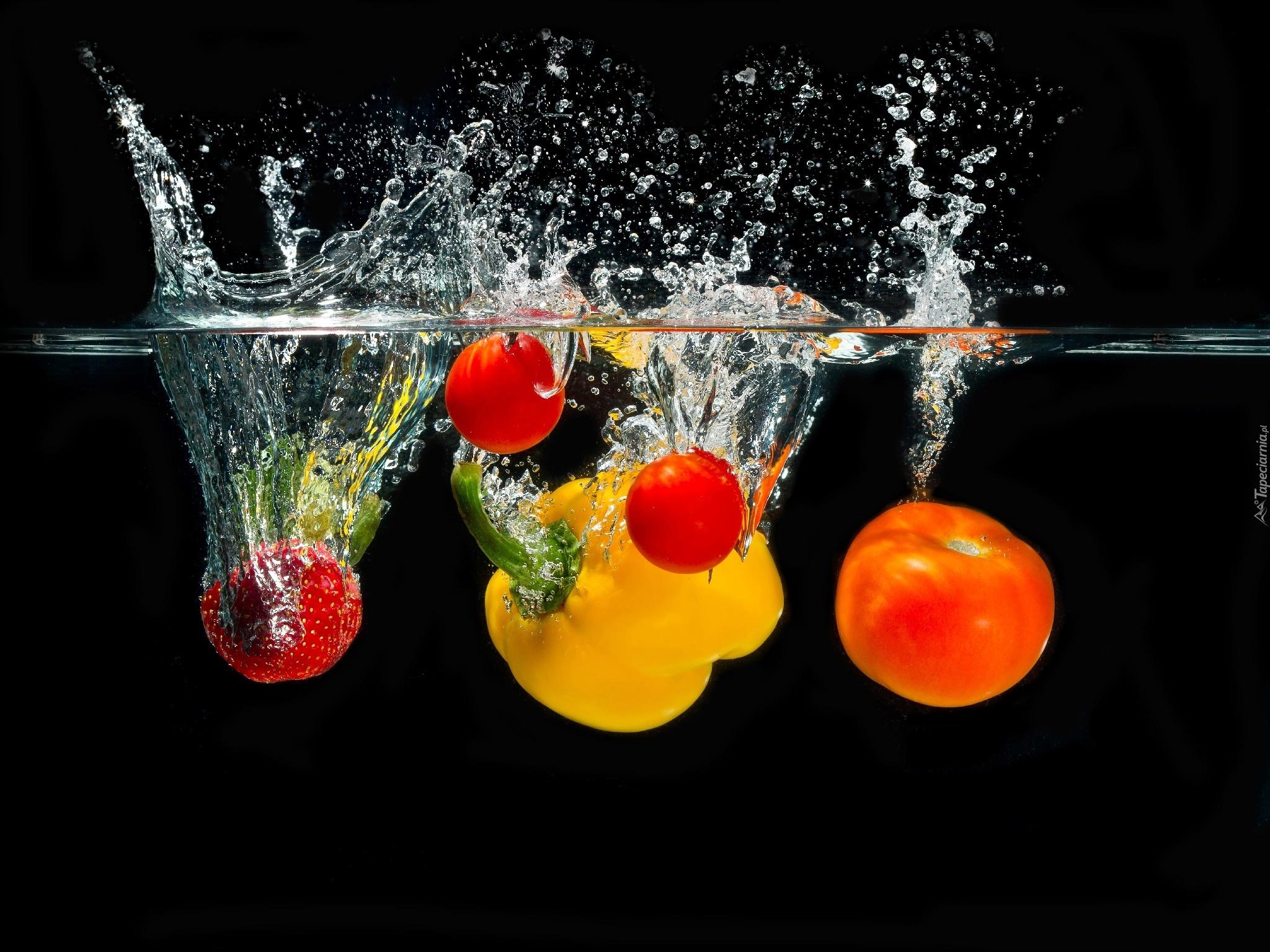 Warzywa papryka pomidory truskawka woda for Kitchen paintings pictures