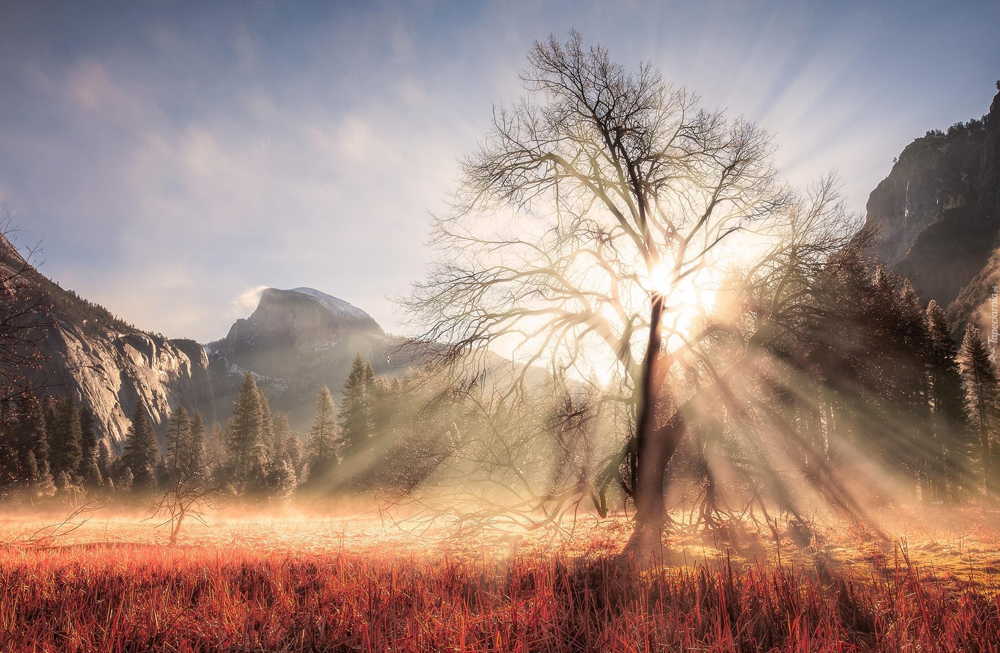 лучи солнце зима горы загрузить