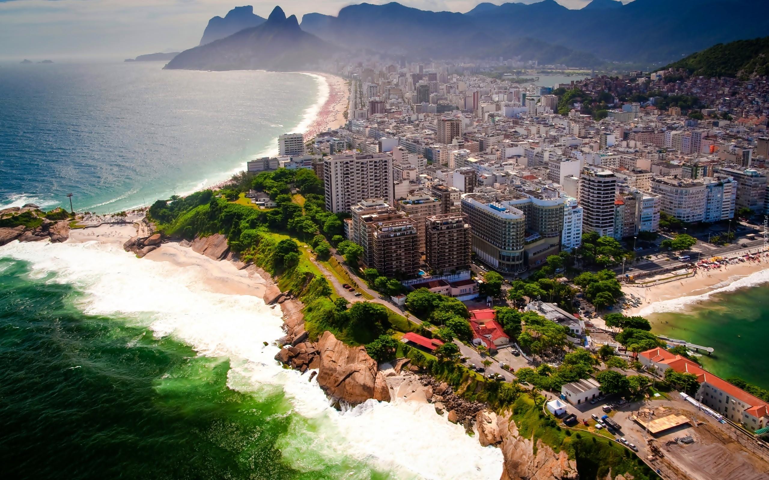 Miasto Rio De Janeiro Z Lotu Ptaka Brazylia