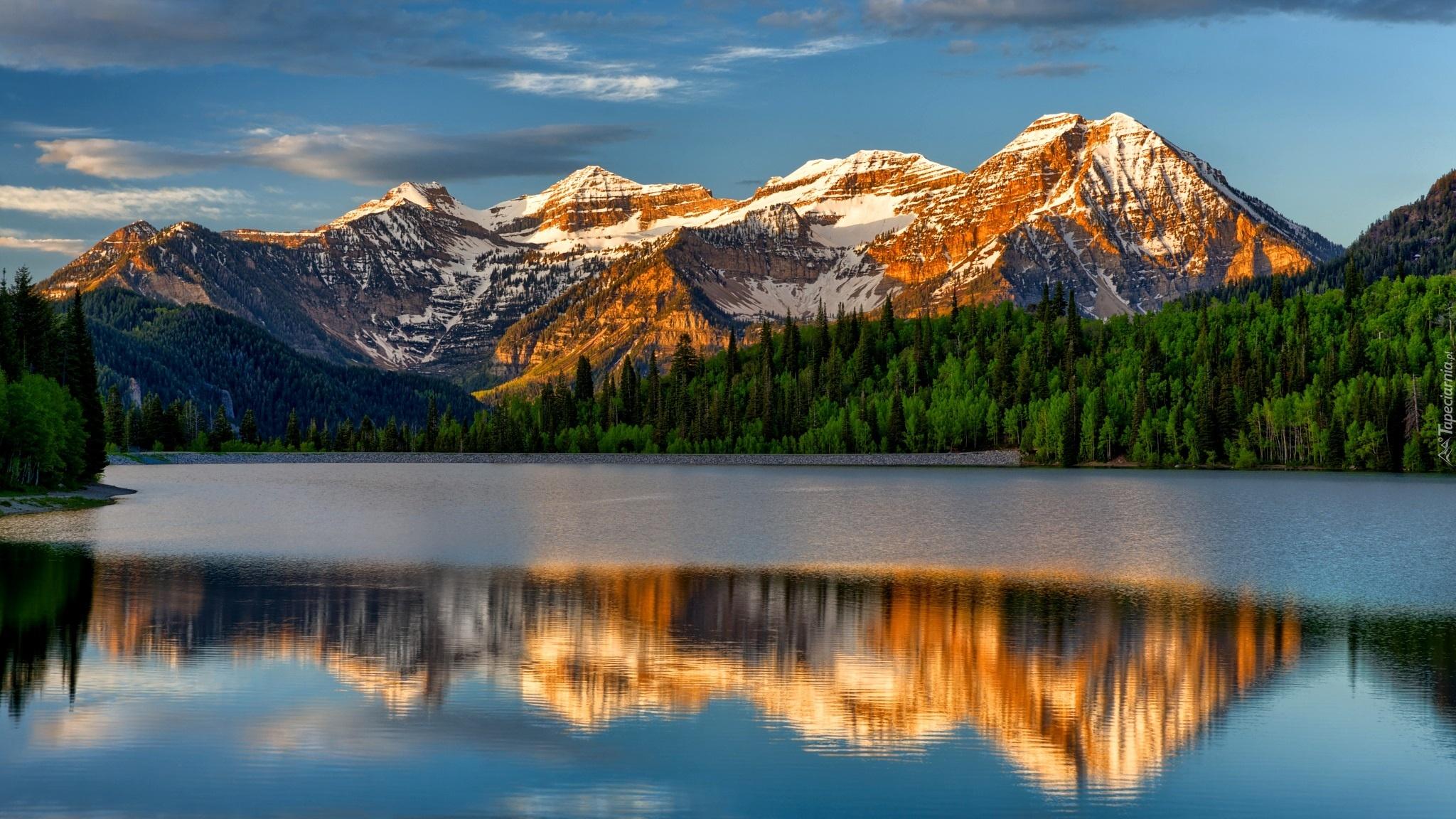 горы озеро дома отражение ландшафт онлайн