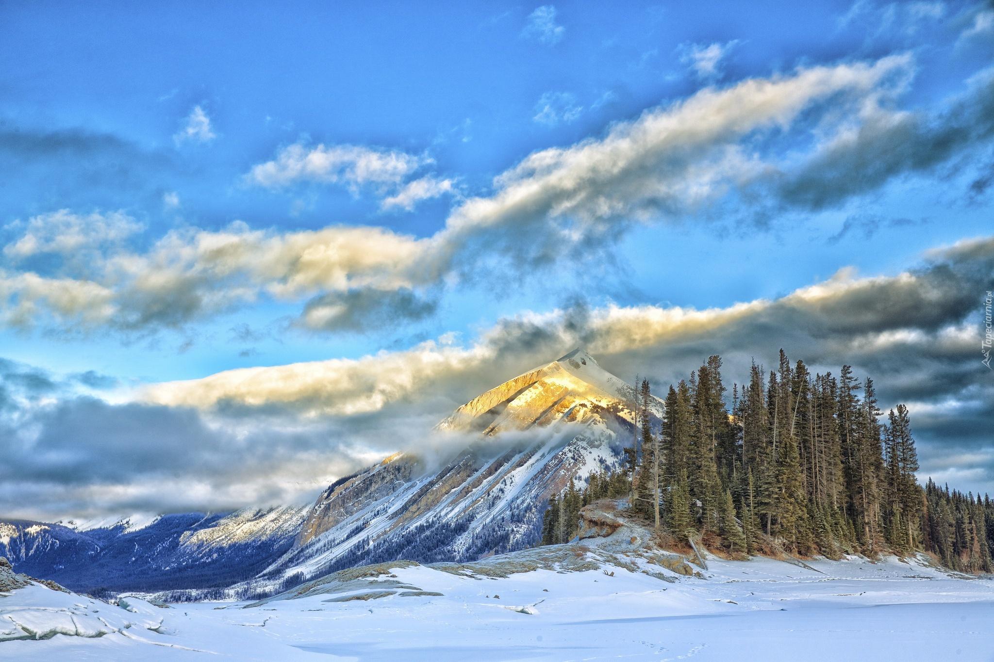 горы склон небо без смс
