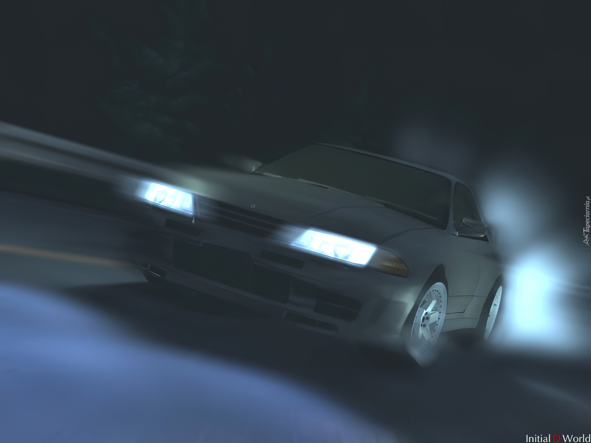 Initial D, race, night, auto