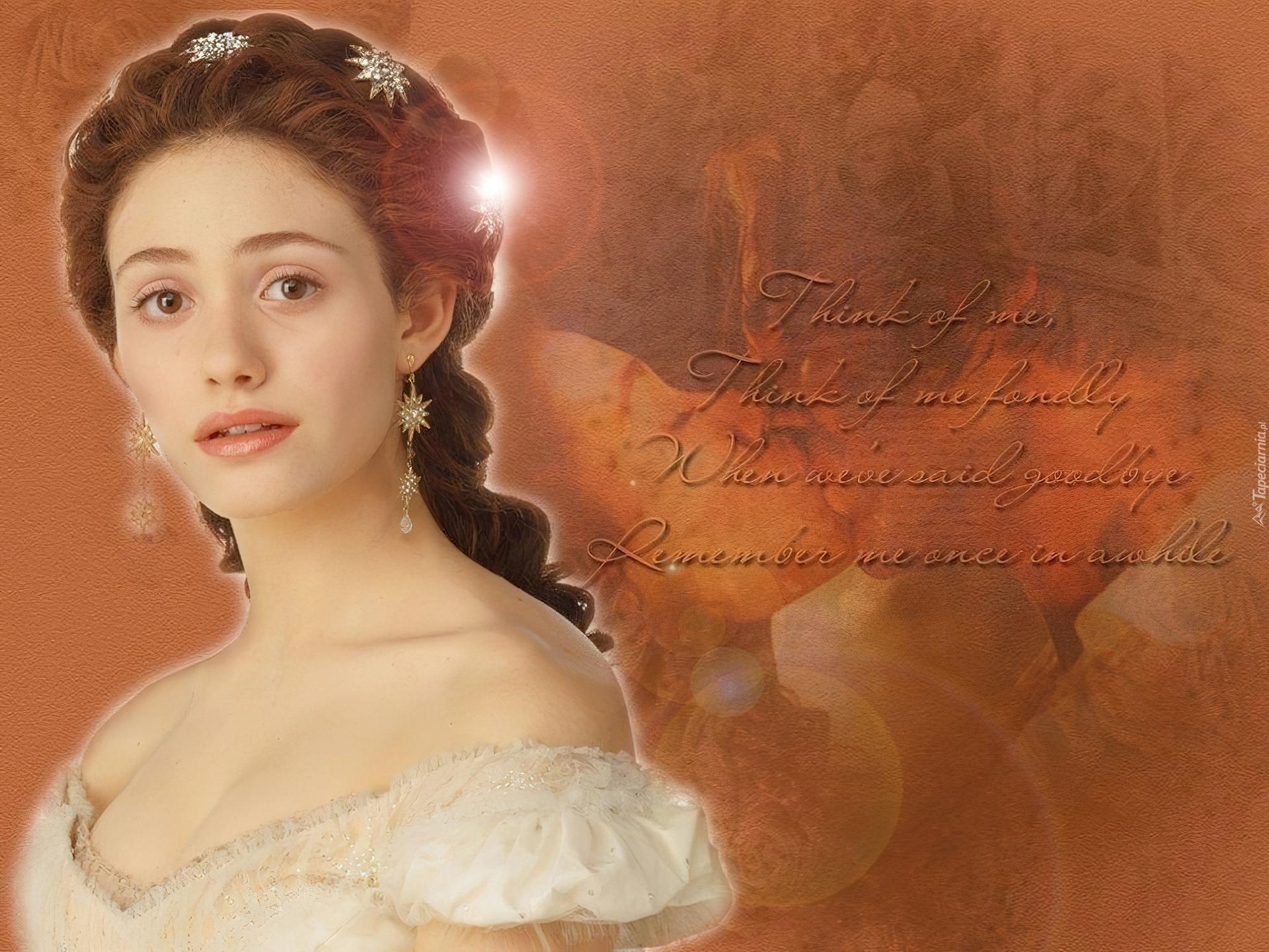 Phantom Of The Opera Emmy Rossum Piękna światełko Wiersz