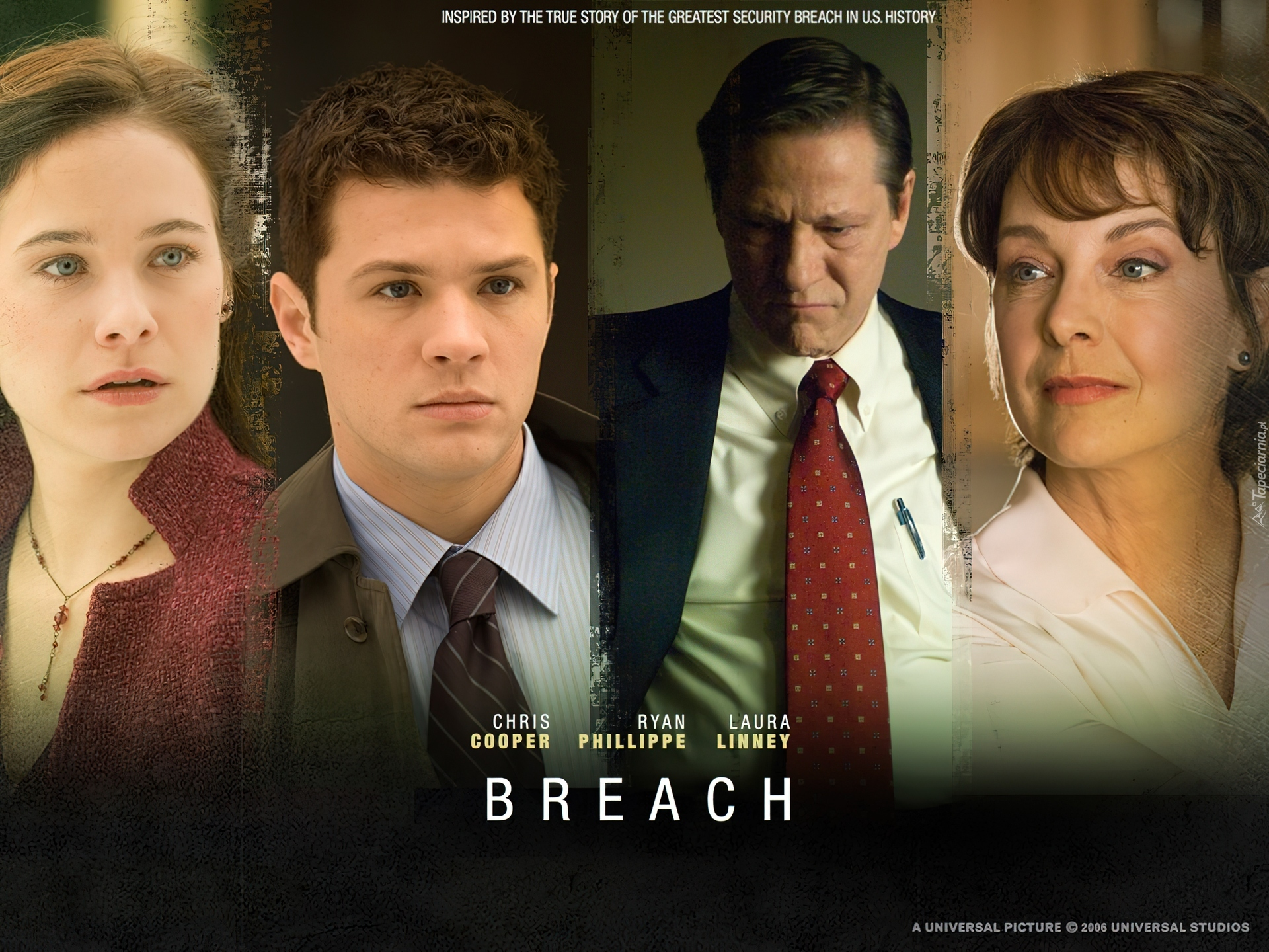 Breach, Ryan Phillippe, Chris Cooper, Laura Linney, Caroline Dhavernas