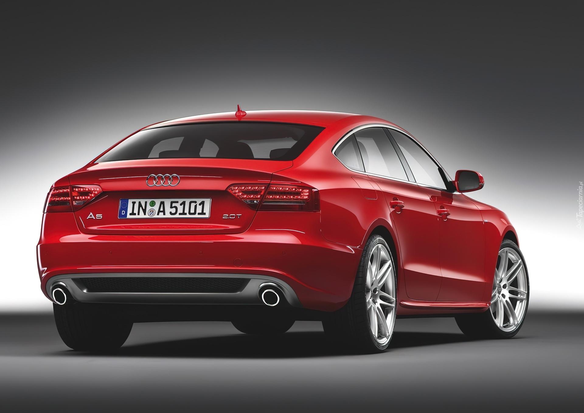 Czerwone Audi A5 20t