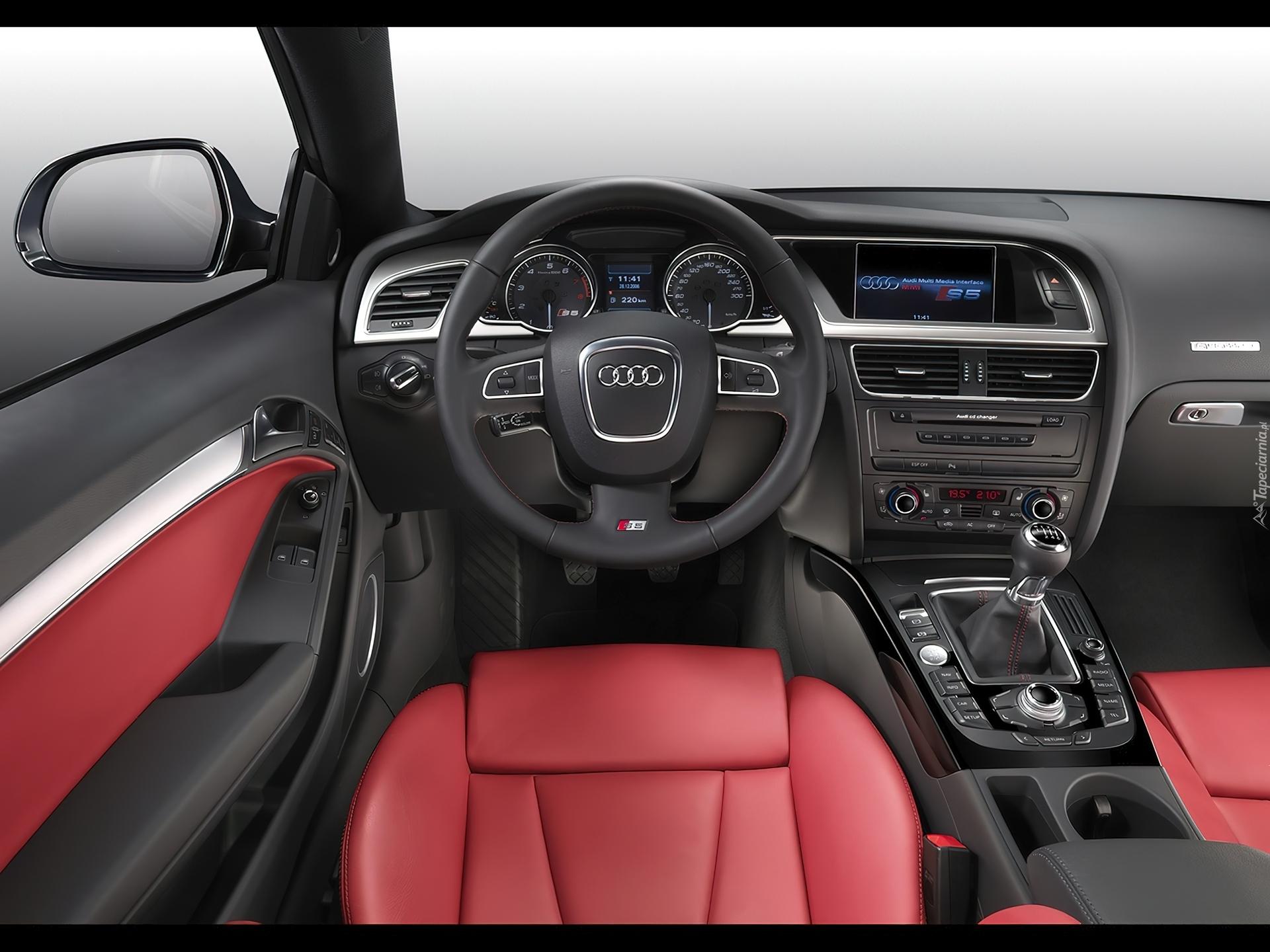 Audi A5 Czerwone Skóry