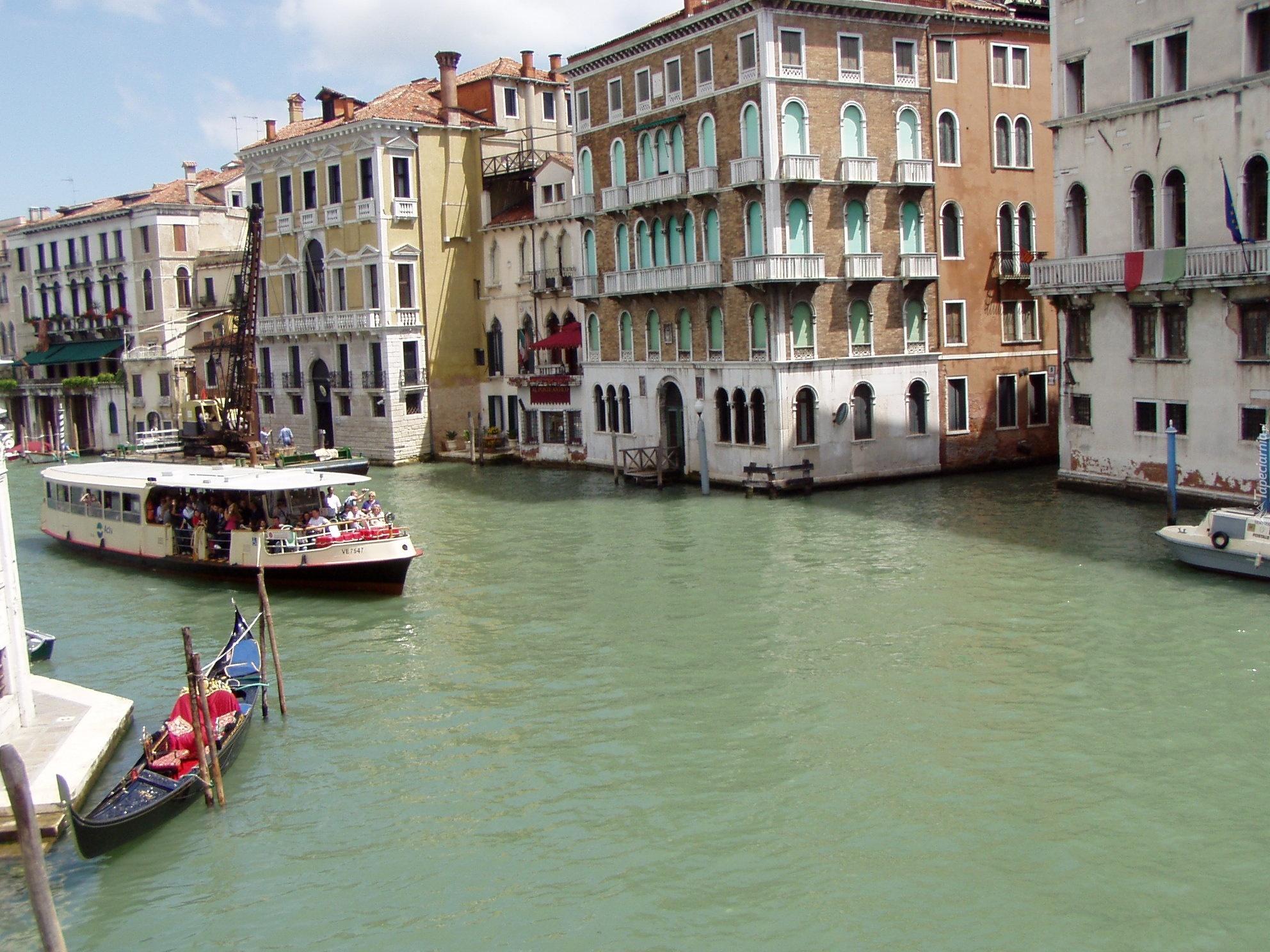 Domy, Nad, Wodą, Włochy, Wenecja