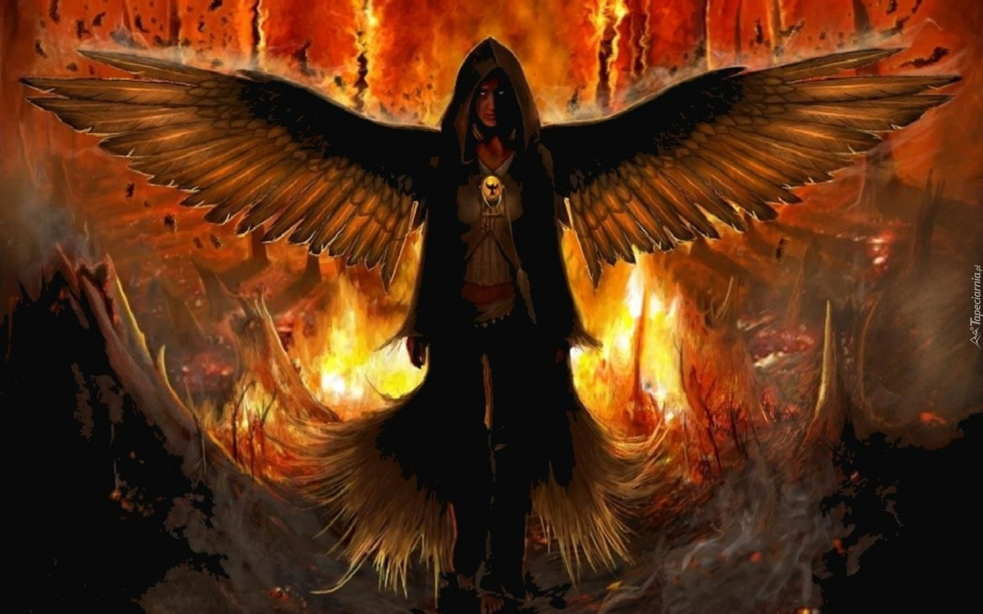 Upadły Anioł Płomienie