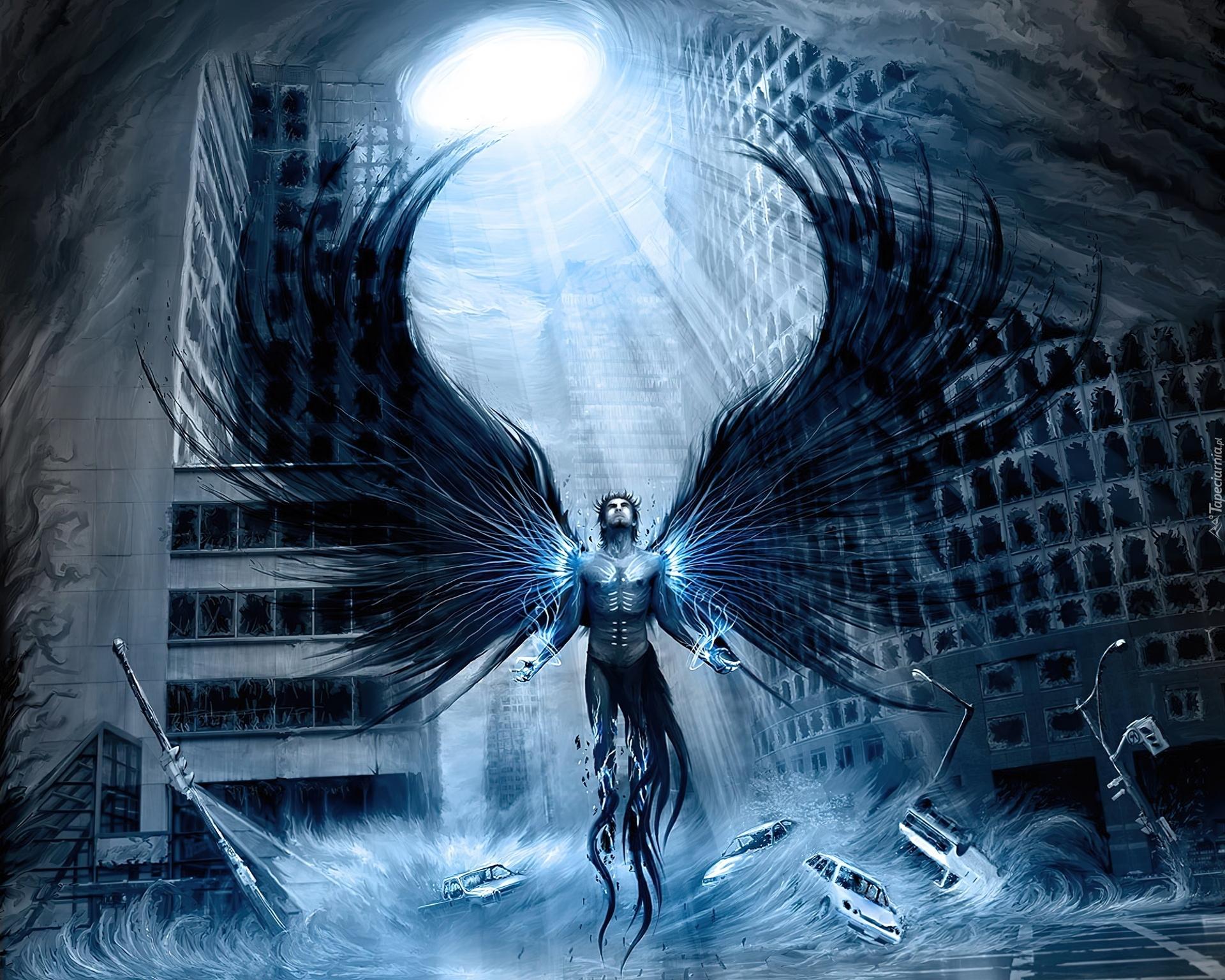 Anioł Mężczyzna Budynki