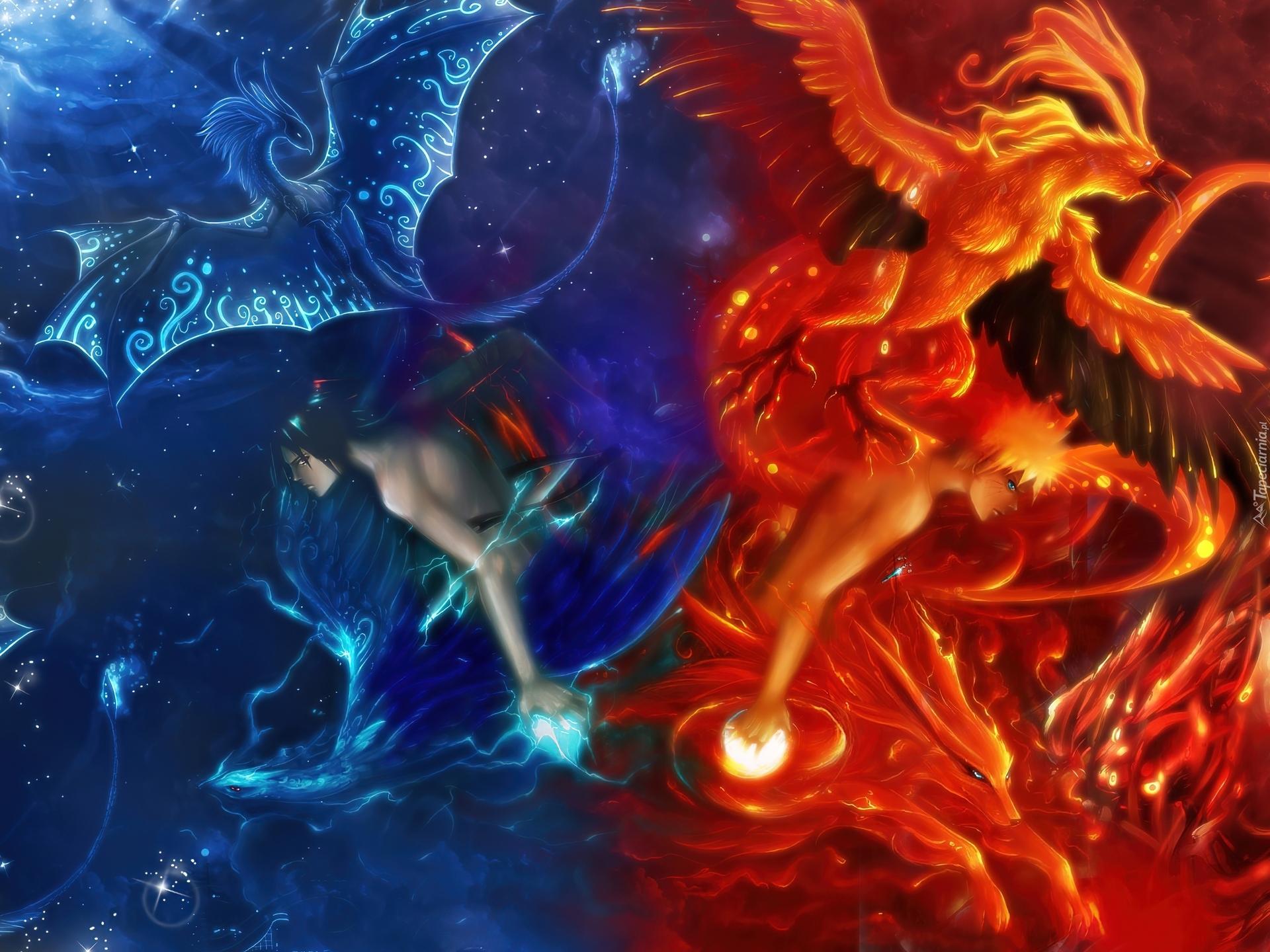 17 Best Images About Good Vs Evil On Pinterest: Naruto, Woda, Ogień