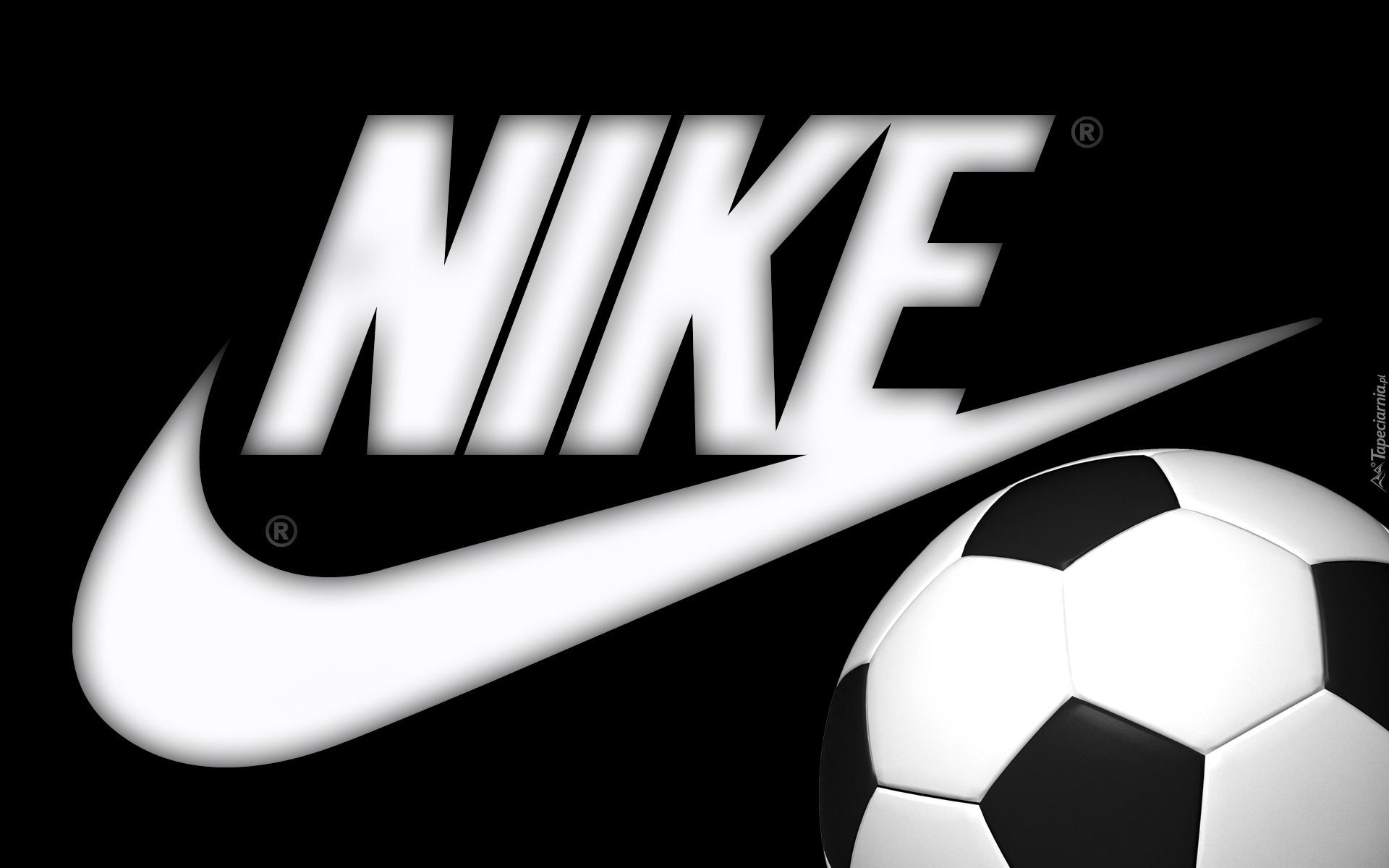 Czarne, Tło, Logo, Nike, Piłka
