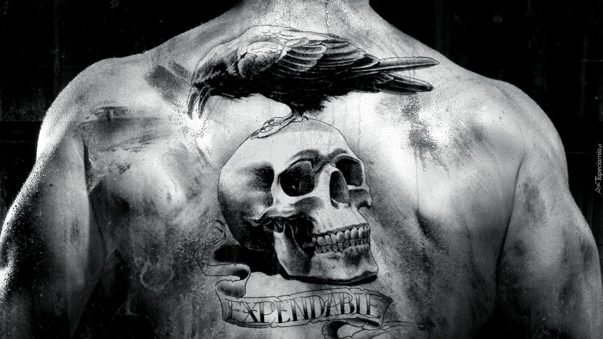 Mężczyzna Plecy Tatuaż