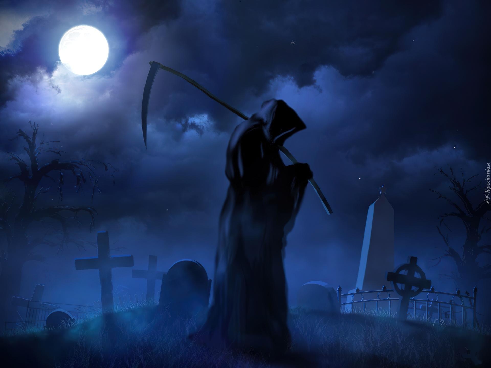 Noc, Cmentarz, Śmierć