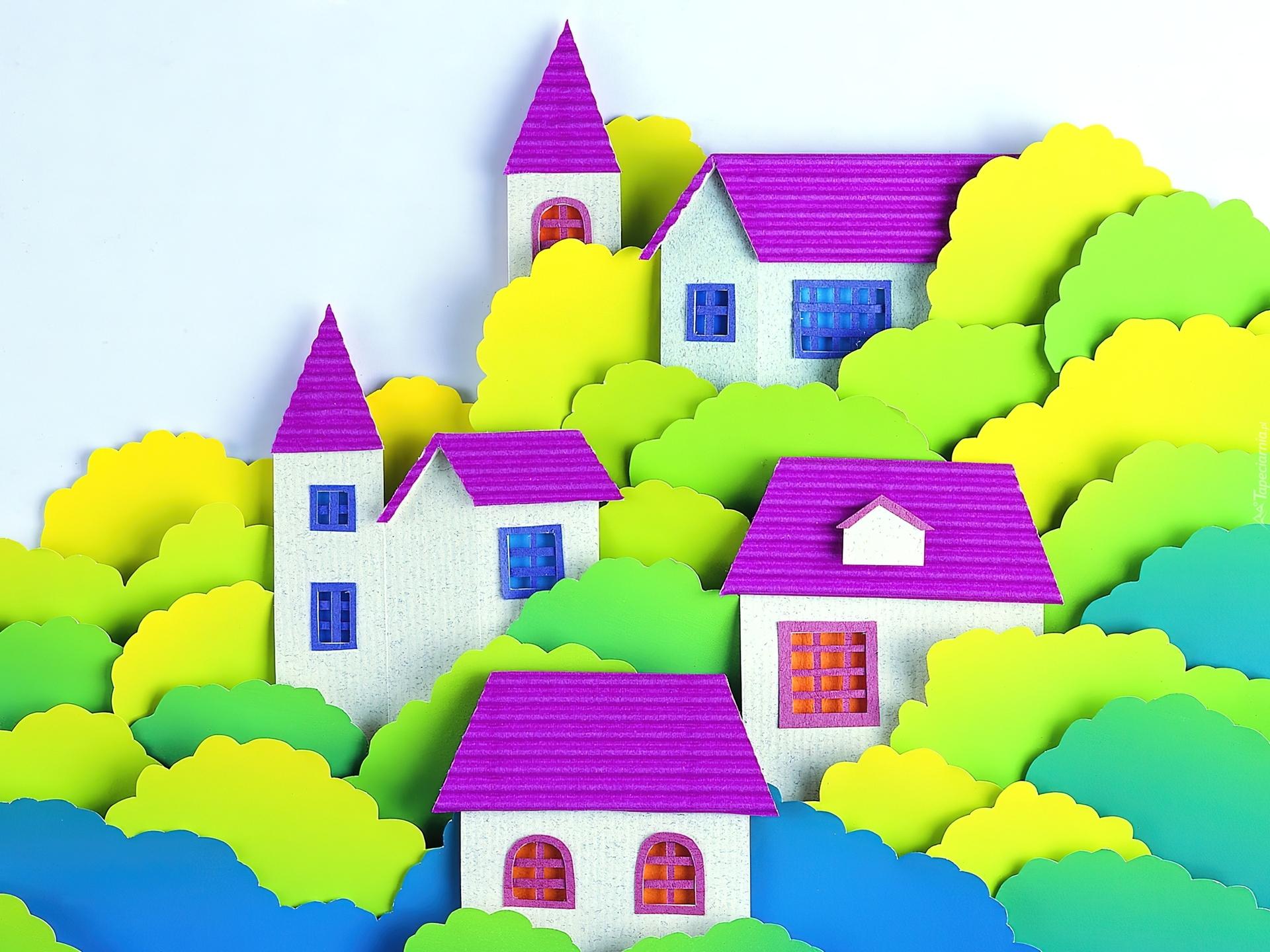 Дом из цветной бумаги