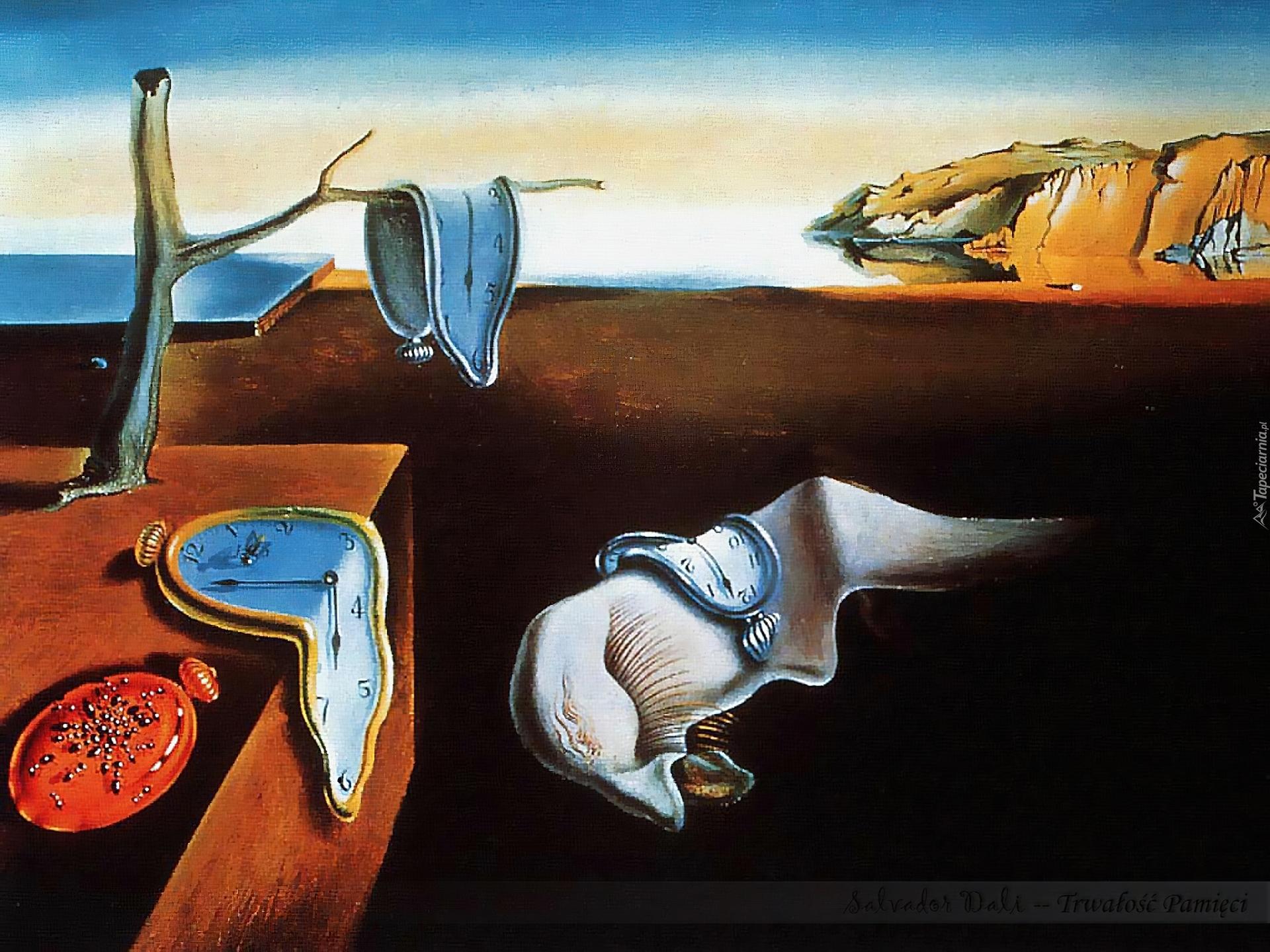 Salvador Dali Trwałośc Pamięci Zegary