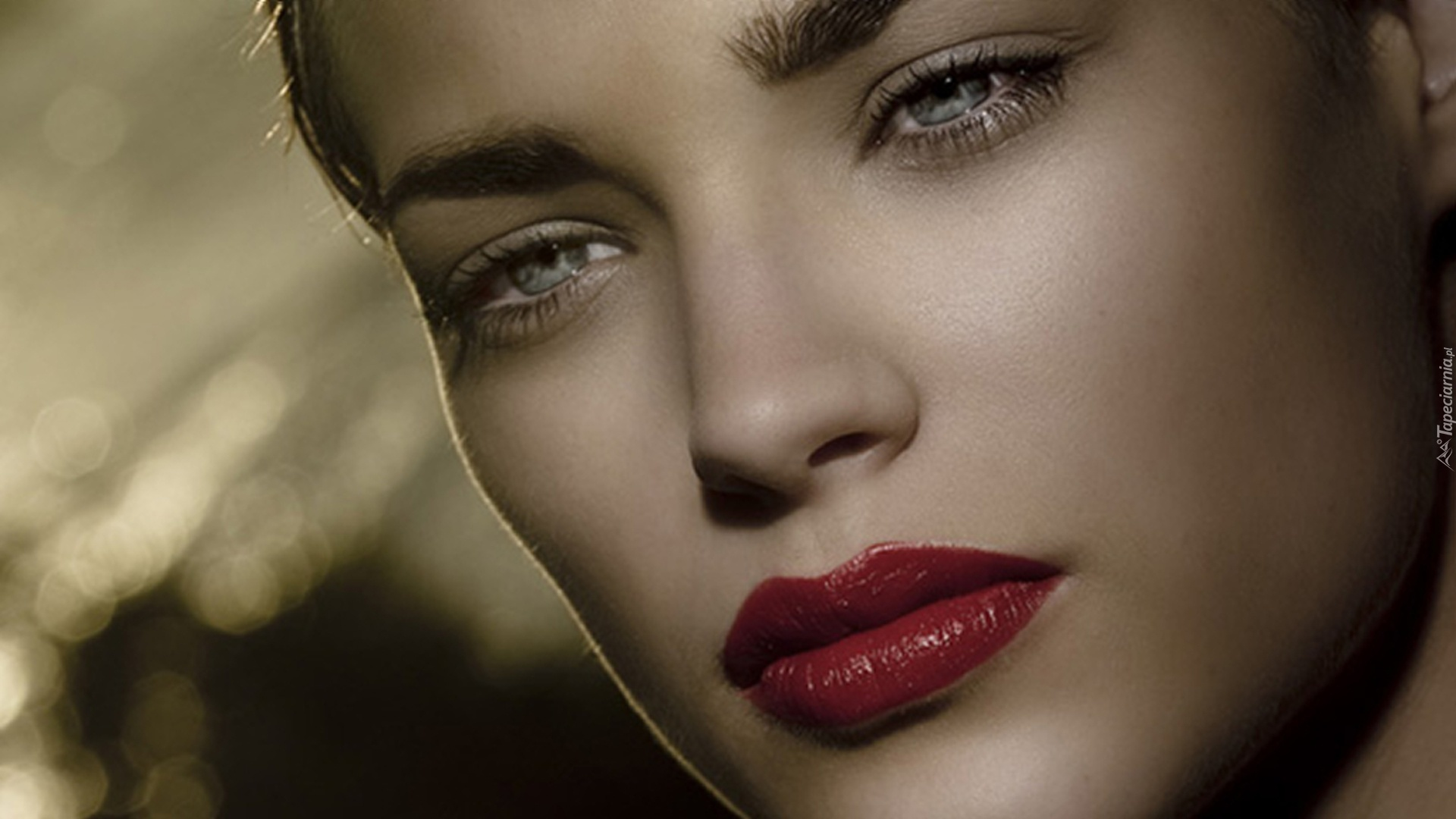 Dziewczyna Makijaż Zielone Oczy