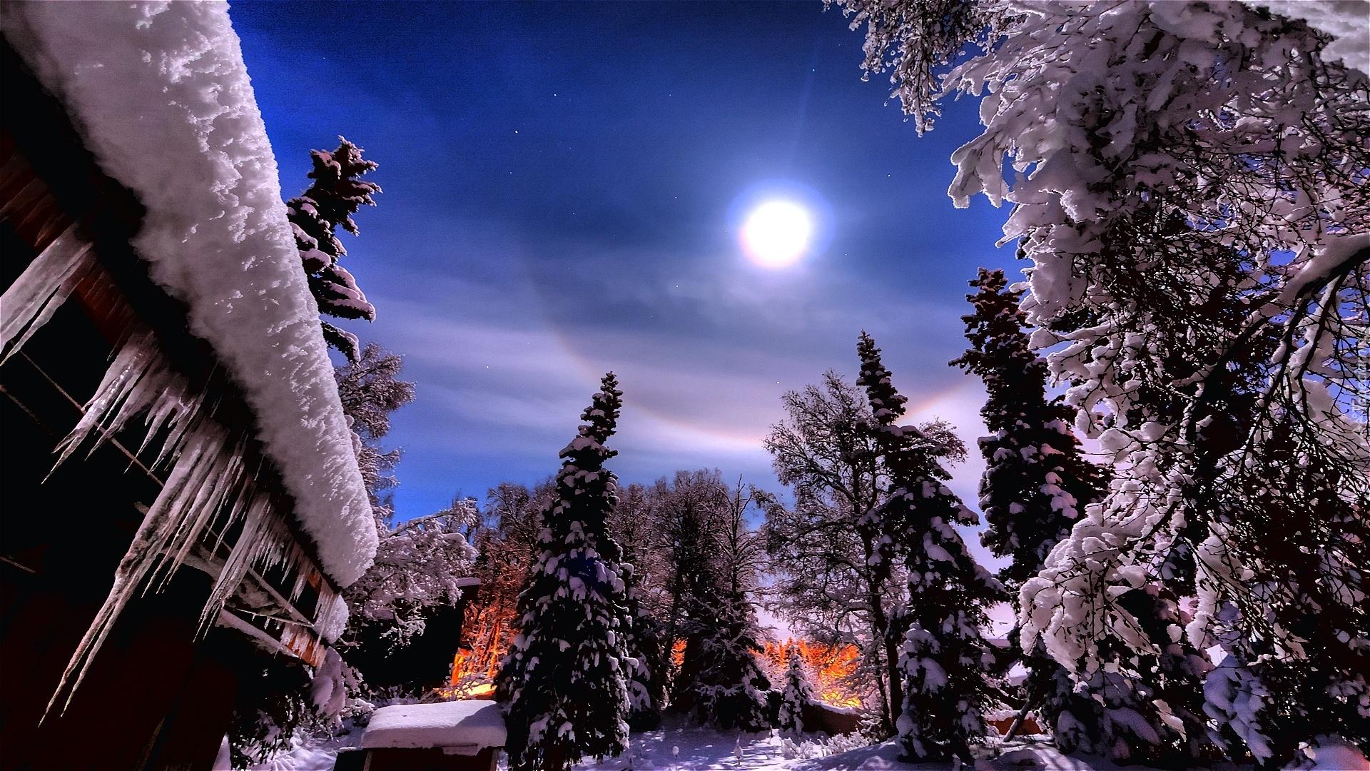 картинка зимний вечер на телефон также