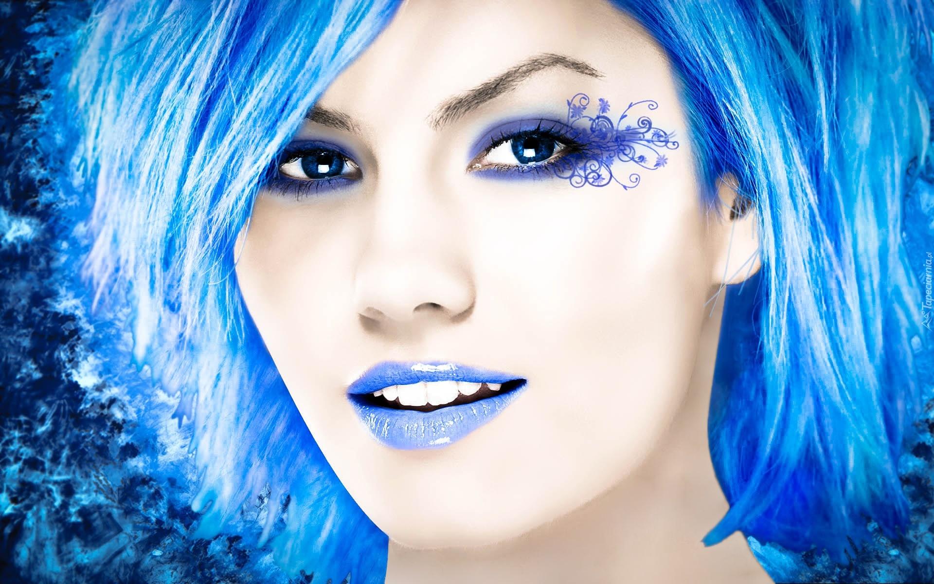 Błękitna Kobieta Tatuaż