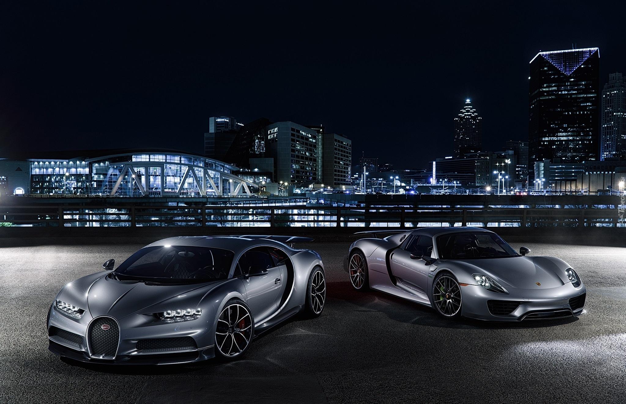 Bugatti Chiron I Porsche 918 Spyder