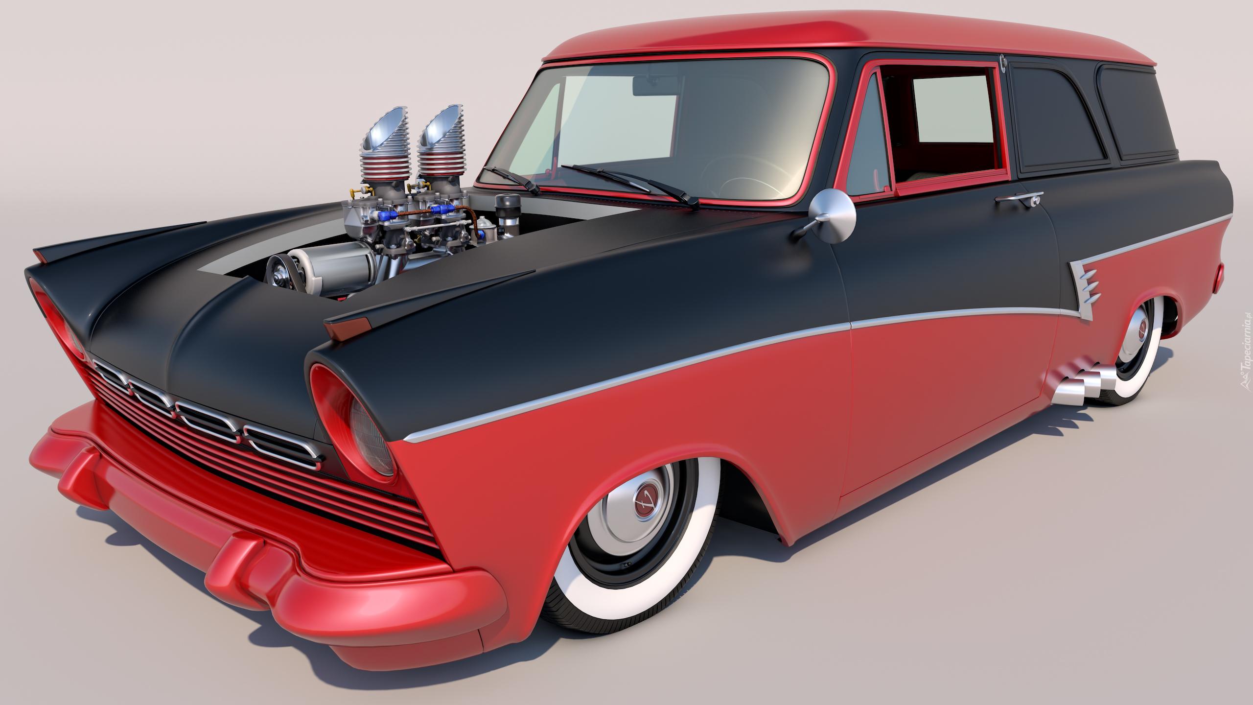czarno czerwony ford taunus 17m p2. Black Bedroom Furniture Sets. Home Design Ideas