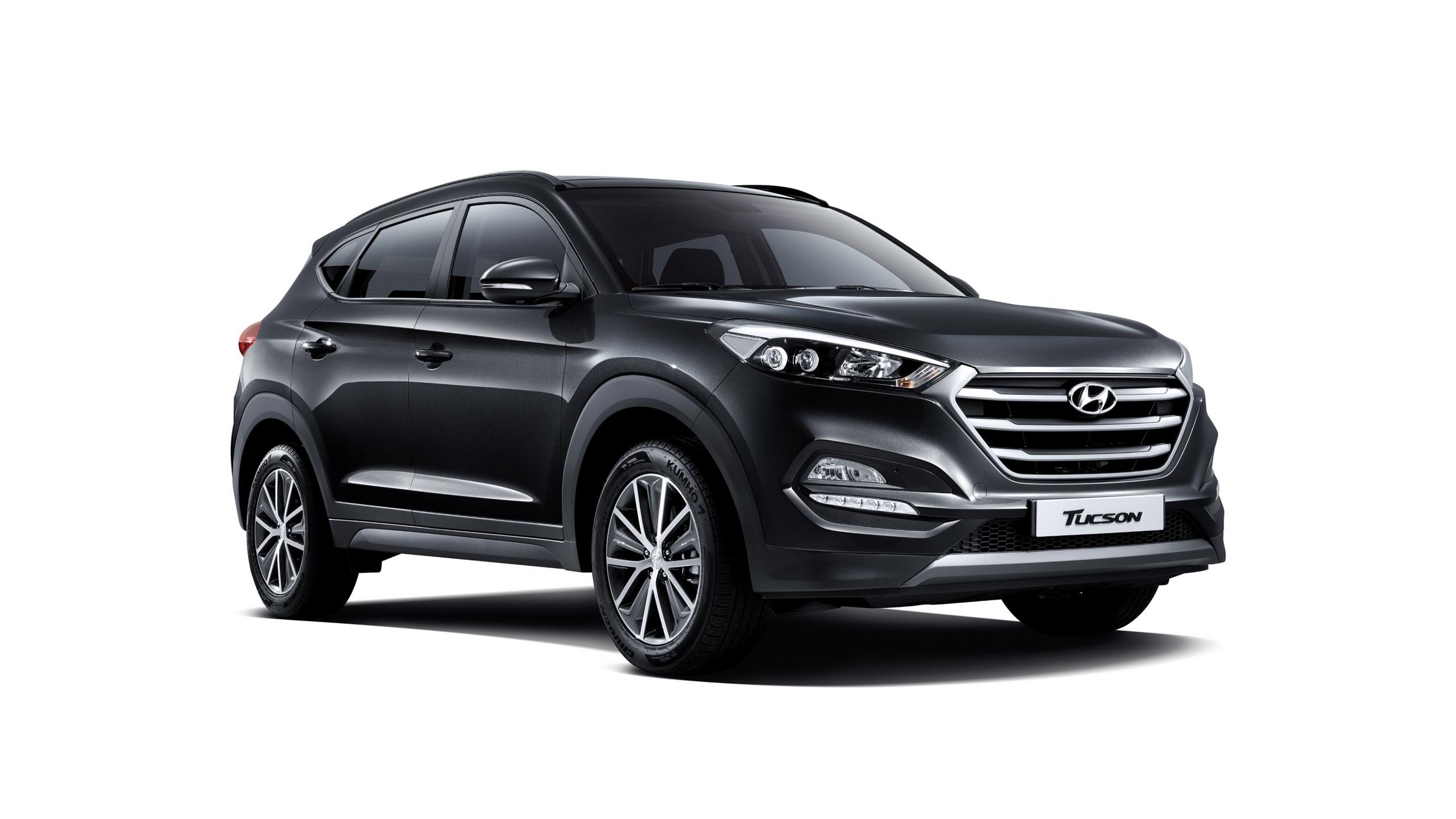 Czarny samochód Hyundai Tucson