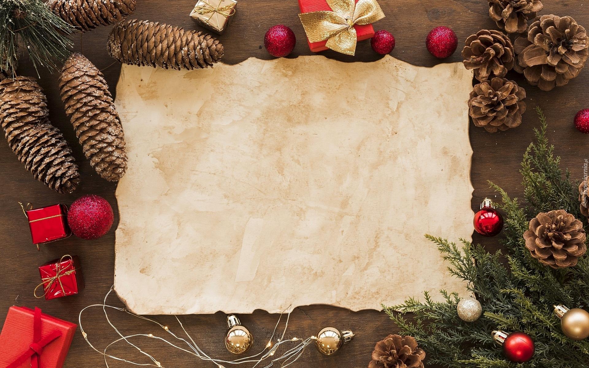 Dekoracje świąteczne Wokół Kartki