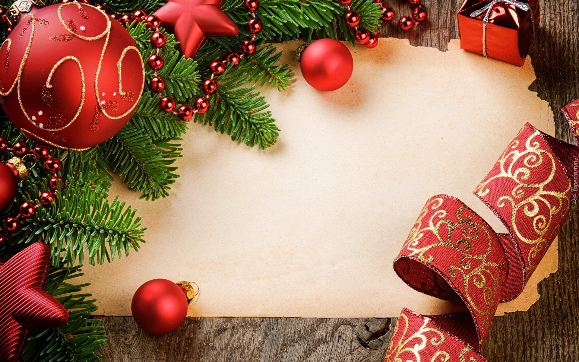 Dekoracje świąteczne Wokół Pustej Kartki