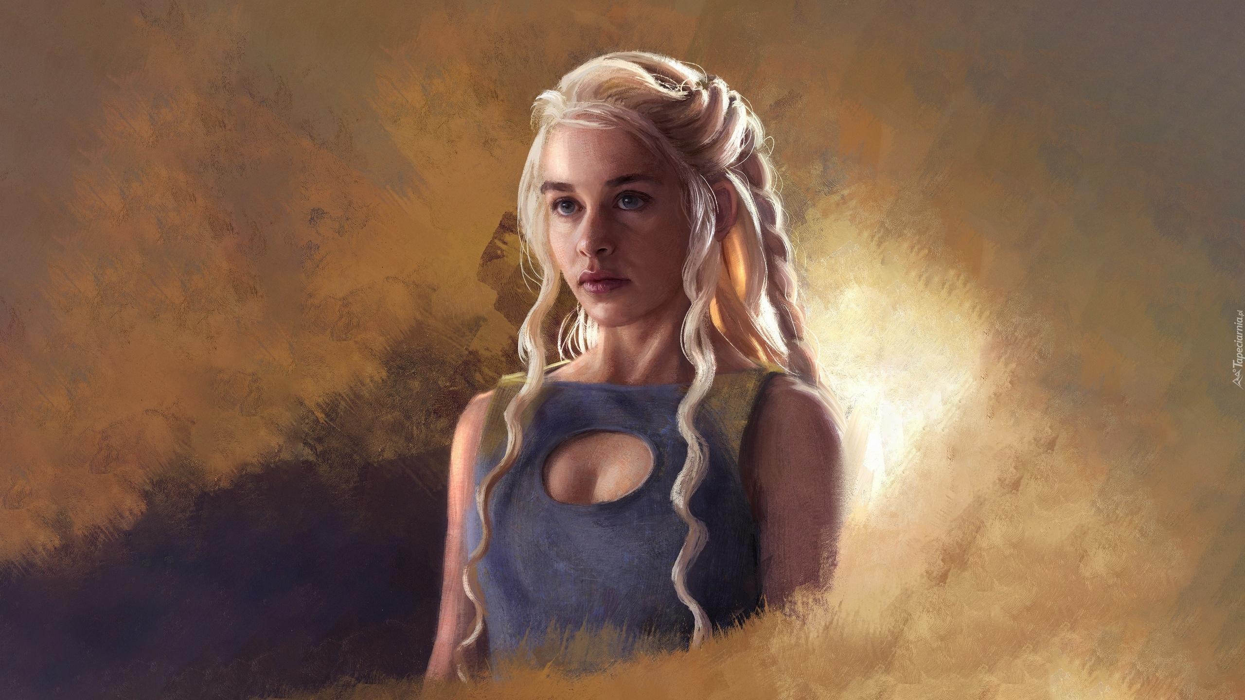 emilia clarke jako daenerys targaryen w serialu gra o tron