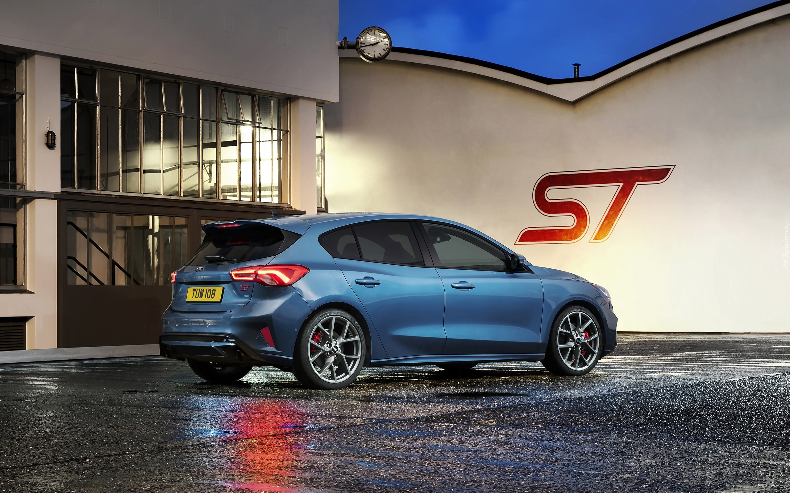 Niebieski, Ford Focus ST, Hatchback, 2019