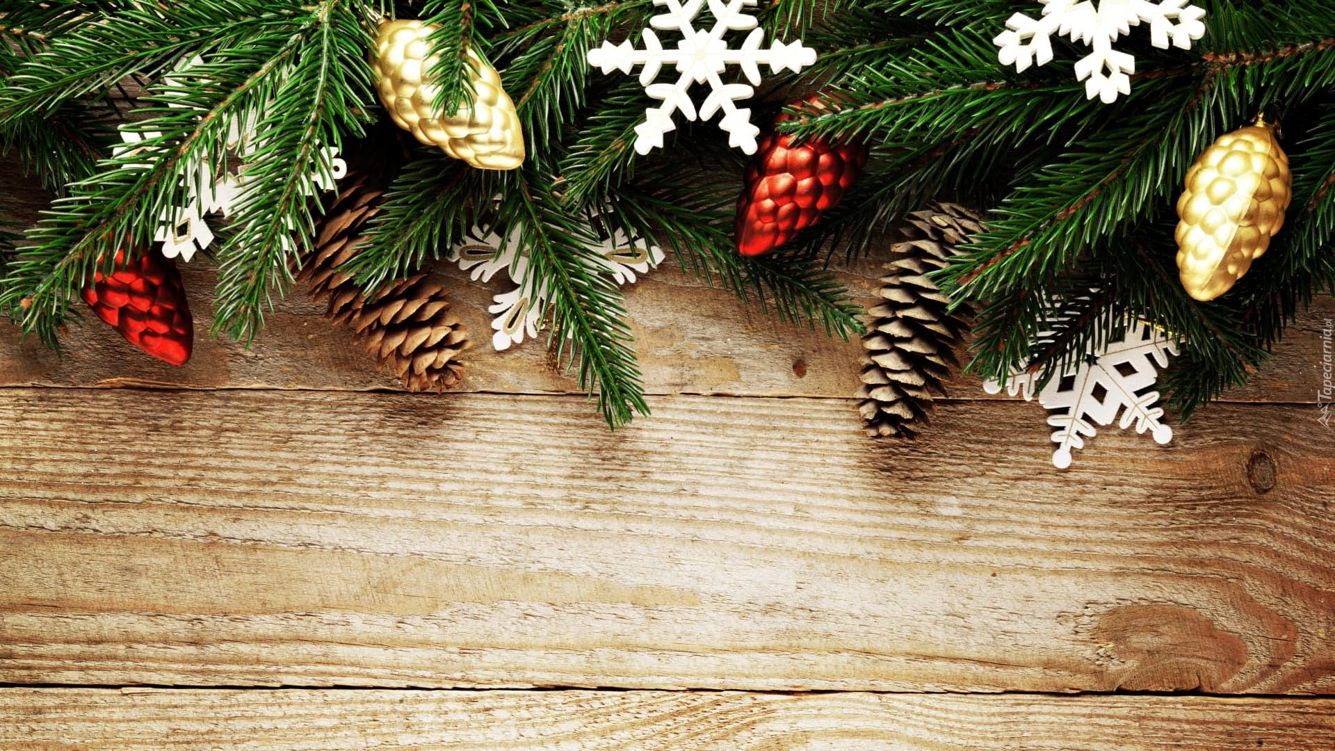 Gałązki I Szyszki W Dekoracji świątecznej Na Deskach