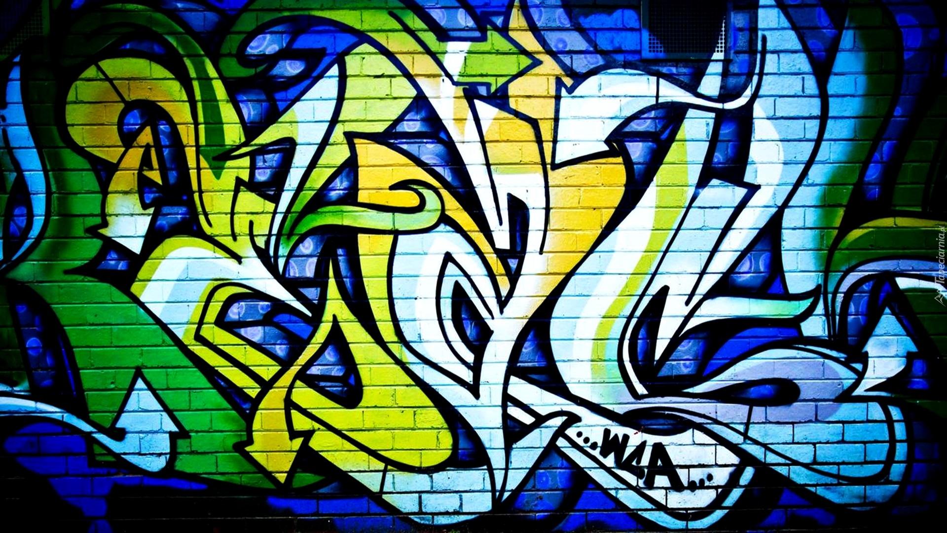 Graffiti na murze z ceg y for Immagini graffiti hd