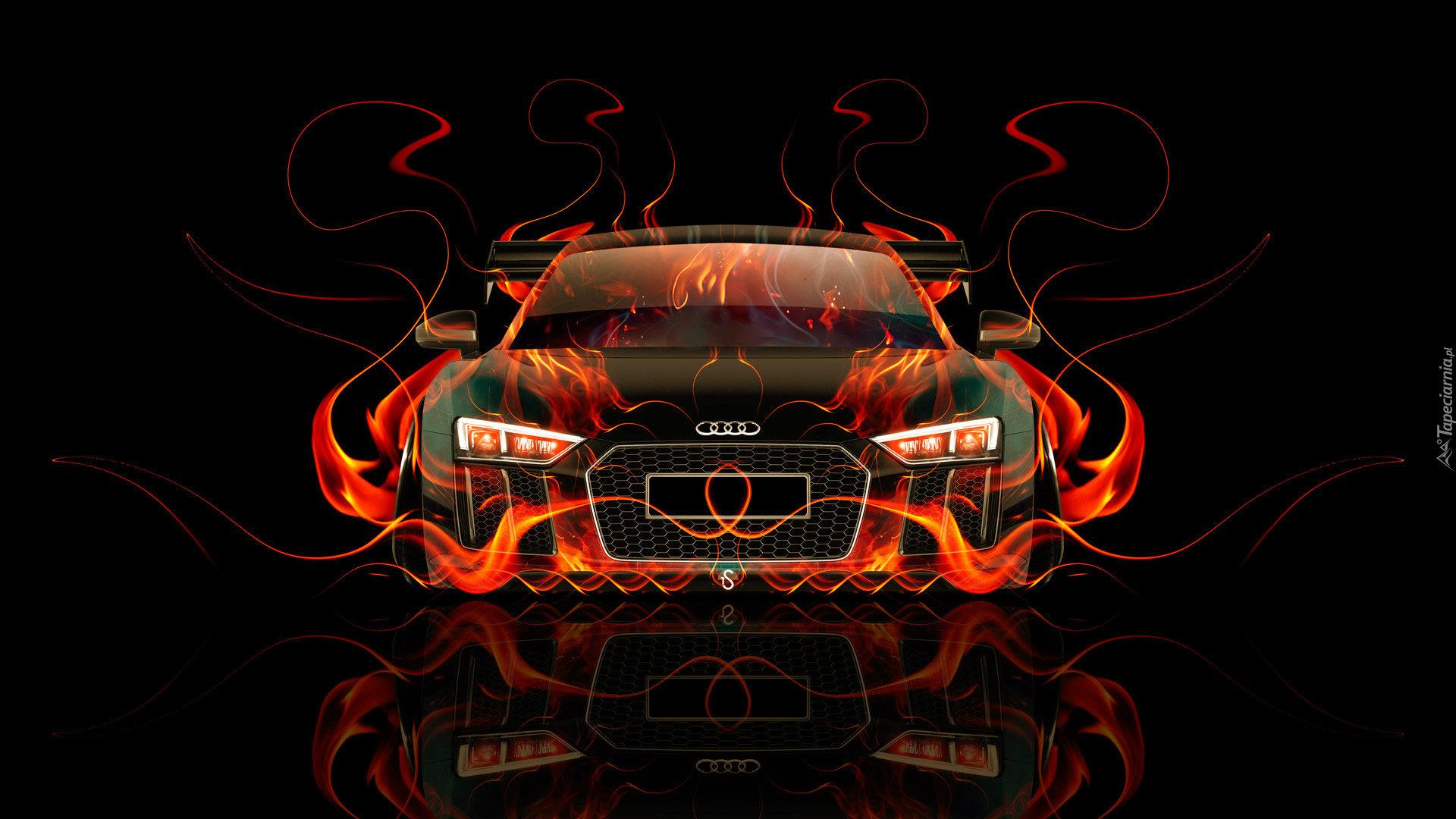 Graficzne Ogniste Audi R8