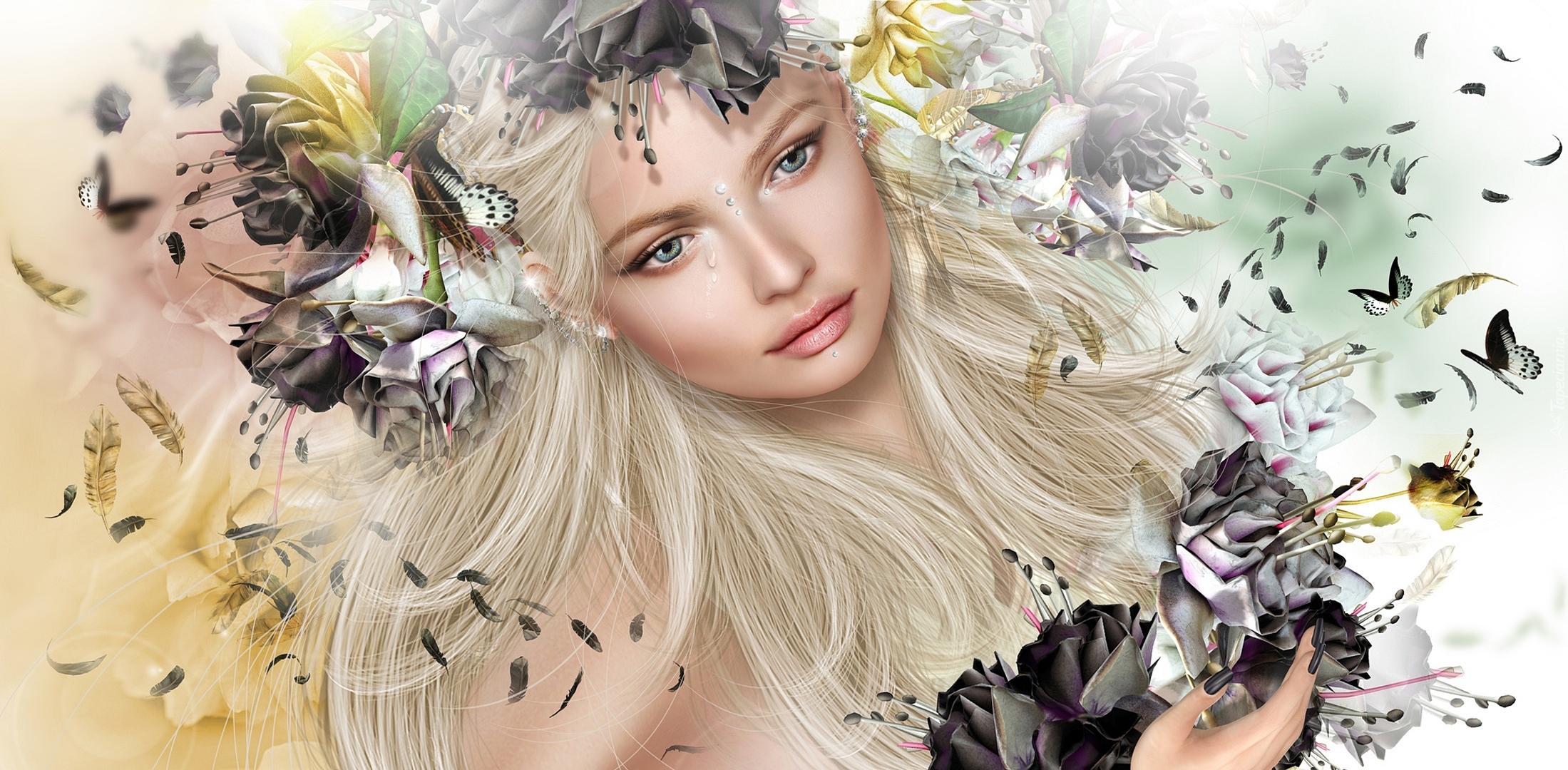 Волосы на открытке