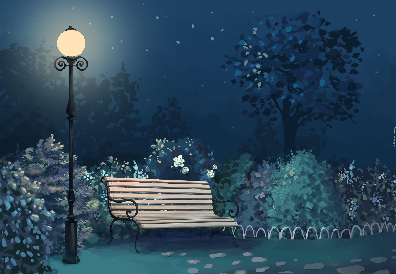 скамейка ночь без смс
