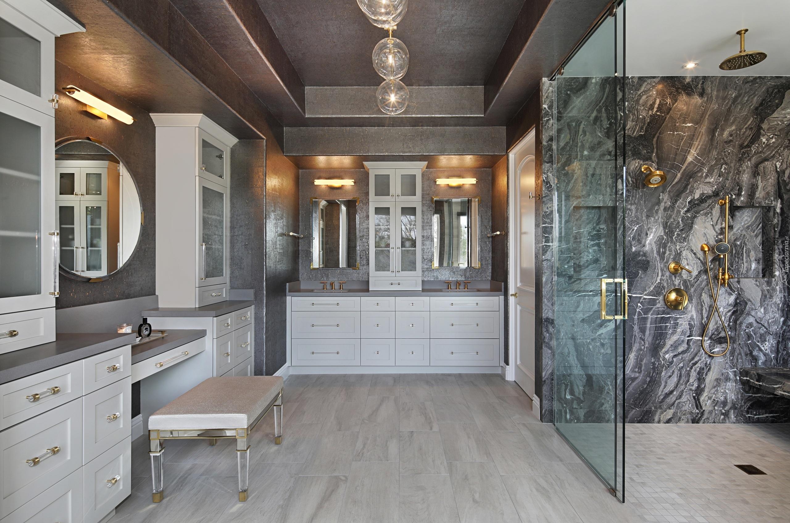 łazienka W Szaro Białej Tonacji