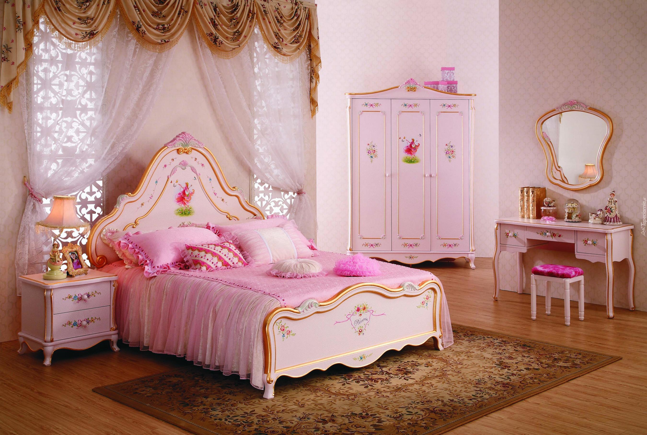 Różowa Sypialnia Dziewczynki