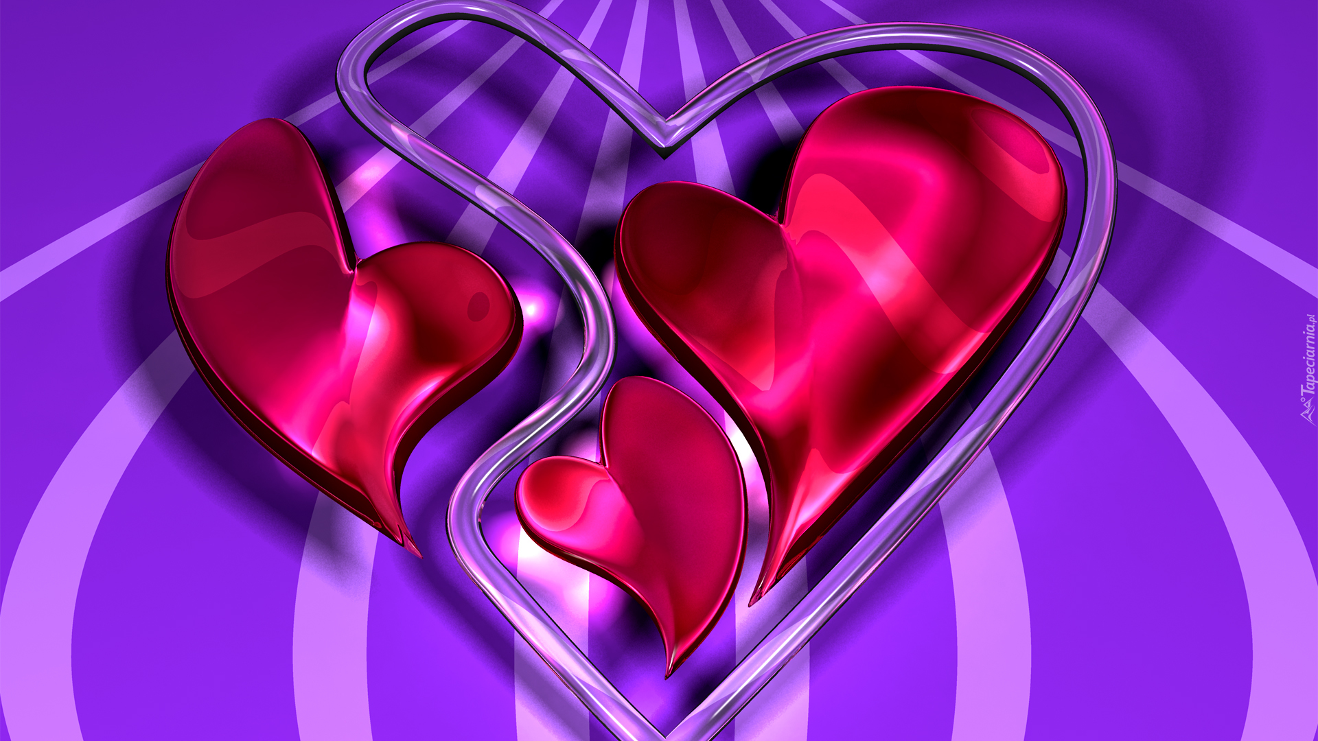 3d Heart Love Wallpapers 4852 Wallpaper: Serca W Grafice Wektorowej 3D